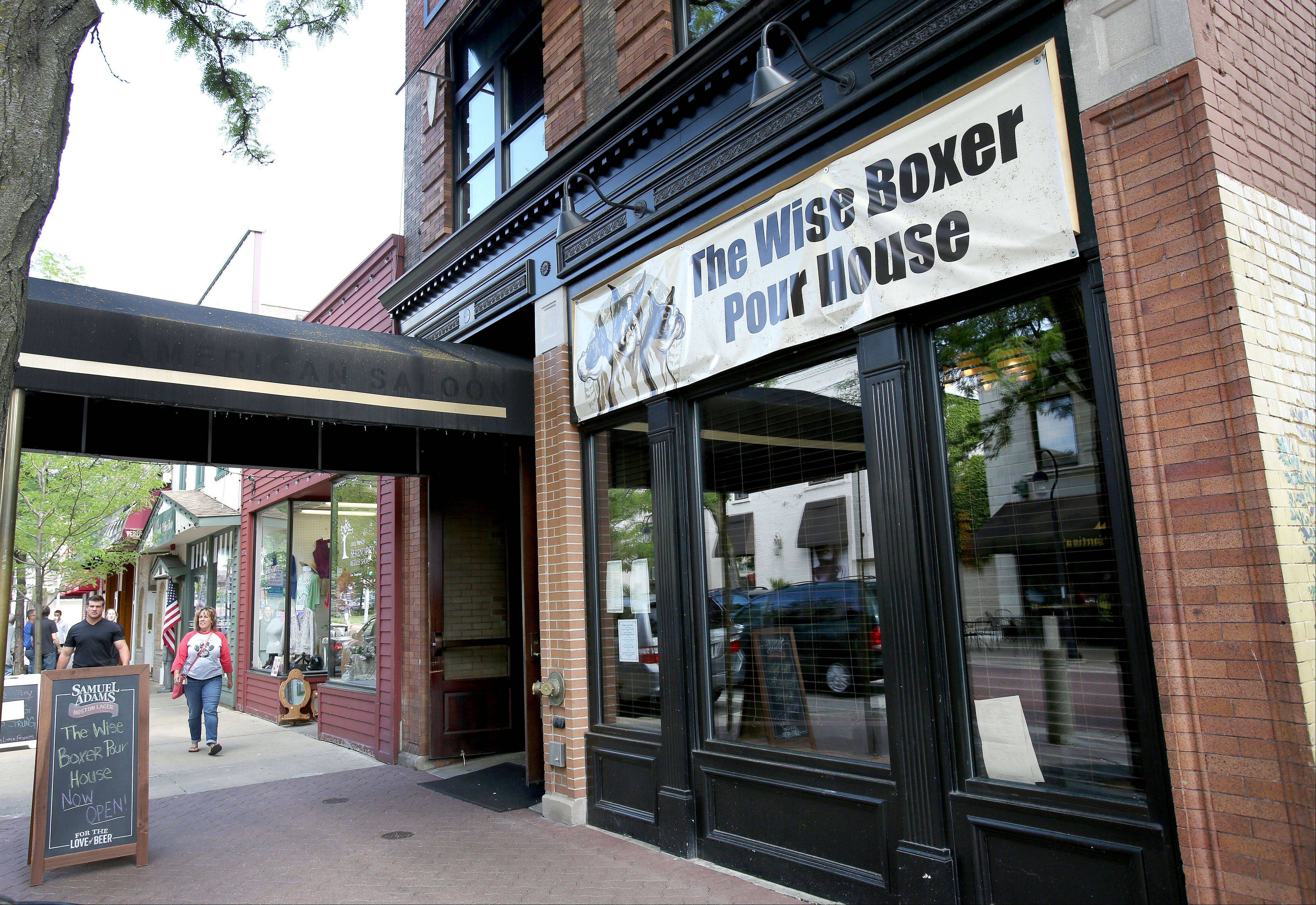 Naperville businessman Jim Bergeron opened the Wise Boxer Pour House on May 31 at the former site of the controversial BlackFinn American Saloon on Jefferson Avenue in downtown Naperville. Bergeron says the new pub focuses on handmade food and craft beer.