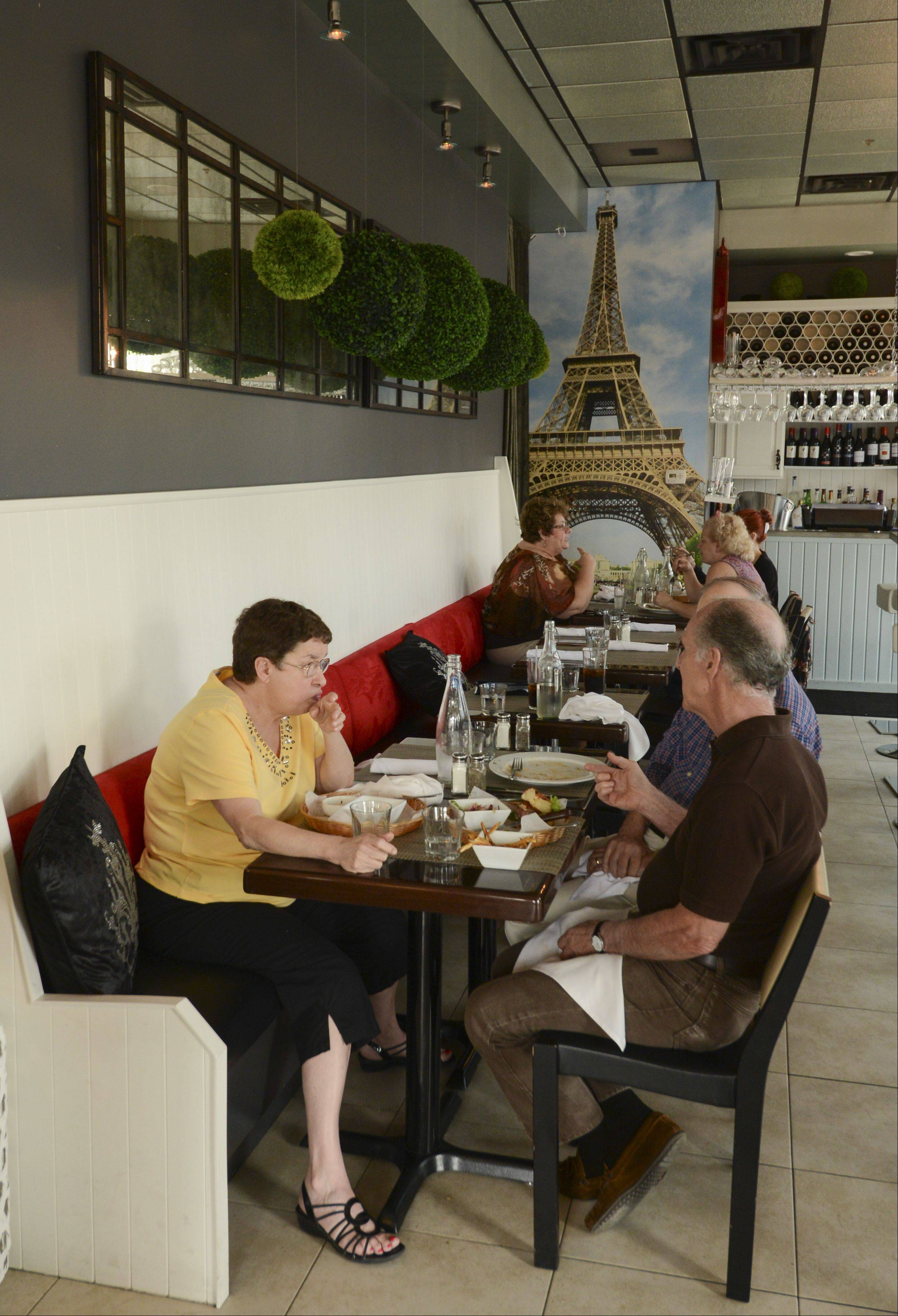 Dinners enjoy the Paris Bistro in Naperville.