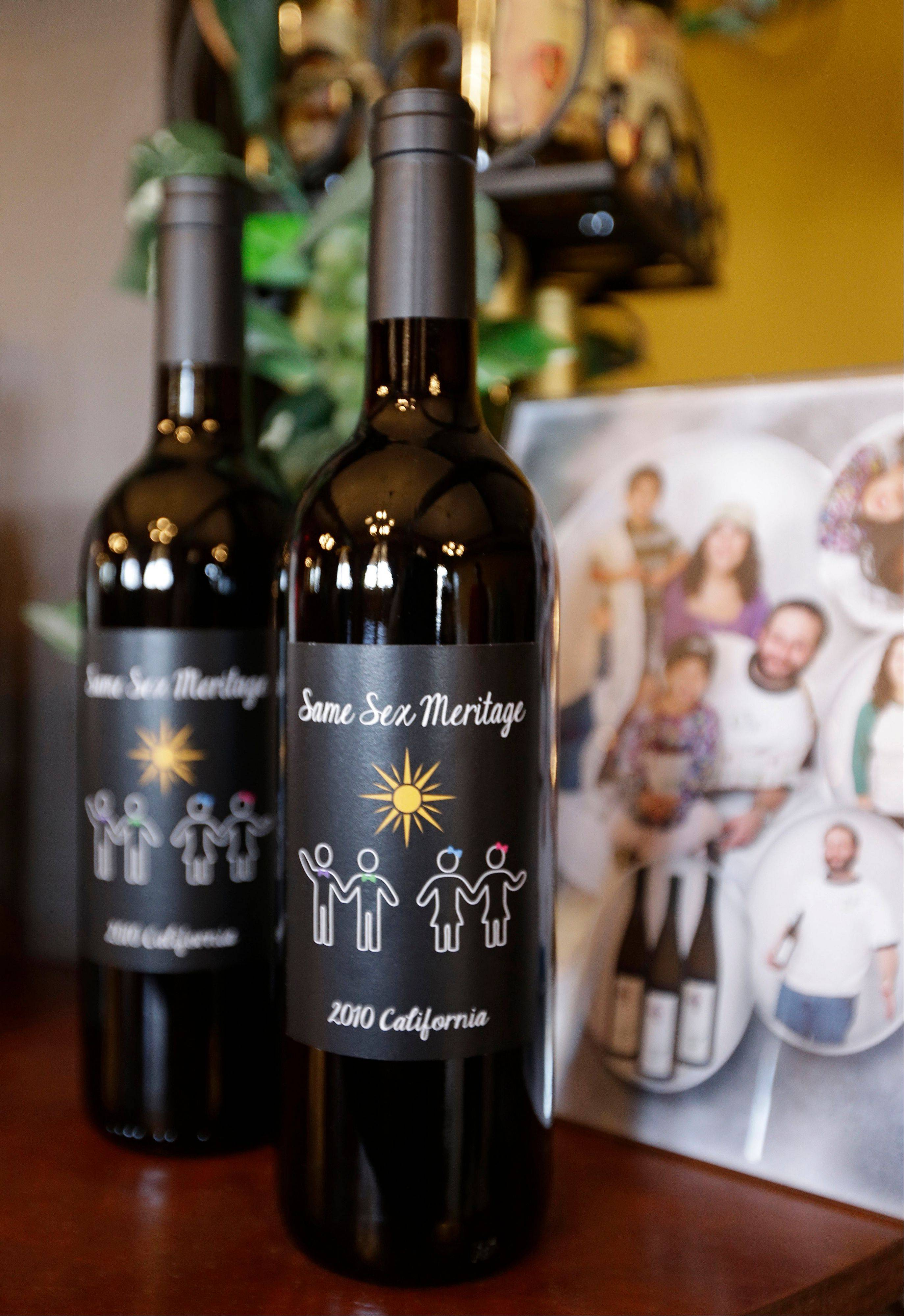 Gay marriage has been a hot topic for some months now, so perhaps it's not surprising the wine world has taken note with wines like Same Sex Meritage by Stein Family Wines, that declare their support for same-sex couples right on the label.
