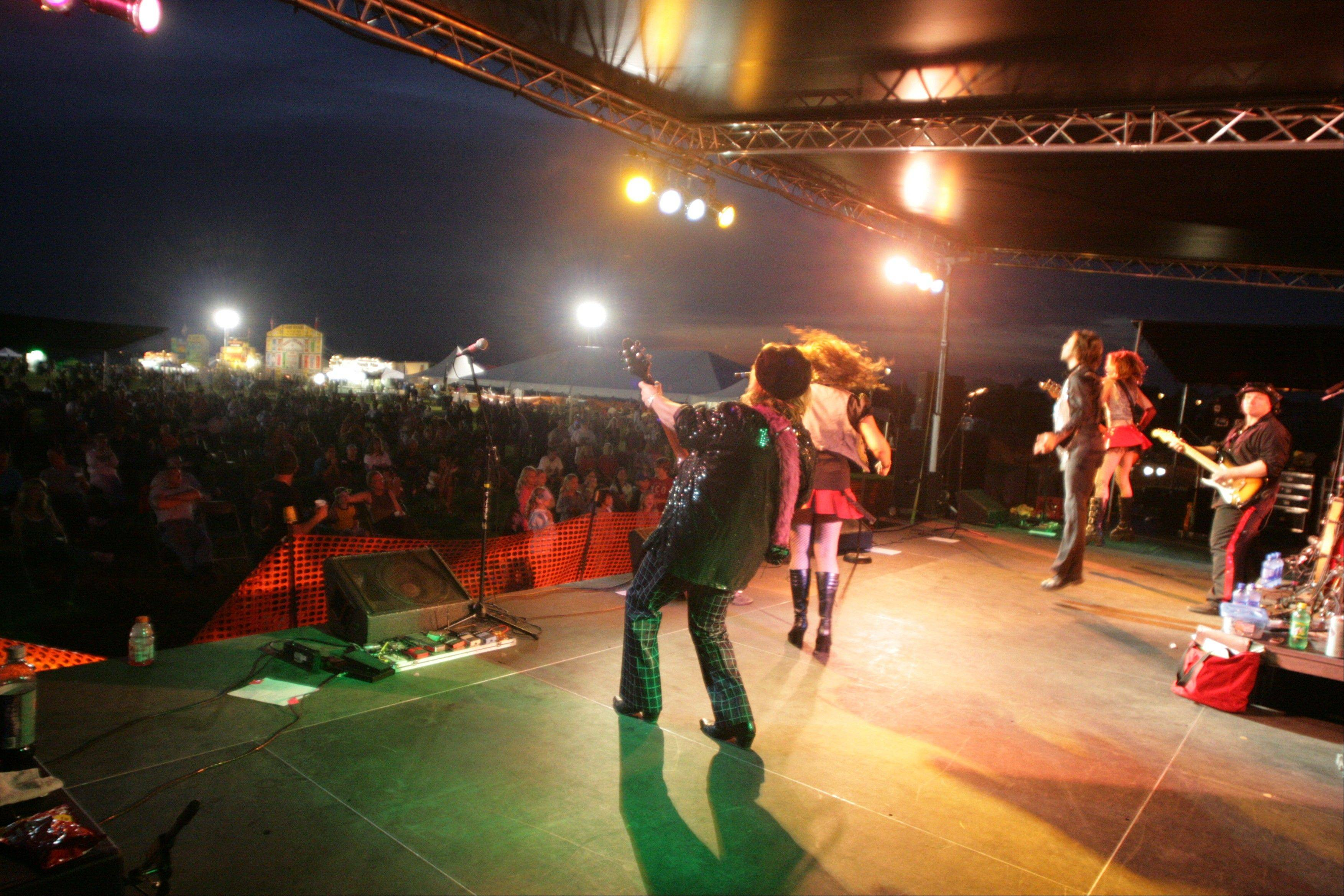 "The music is why Lake in the Hills' rib festival is known as ""Rockin' Ribfest."" A variety of bands are scheduled to perform."