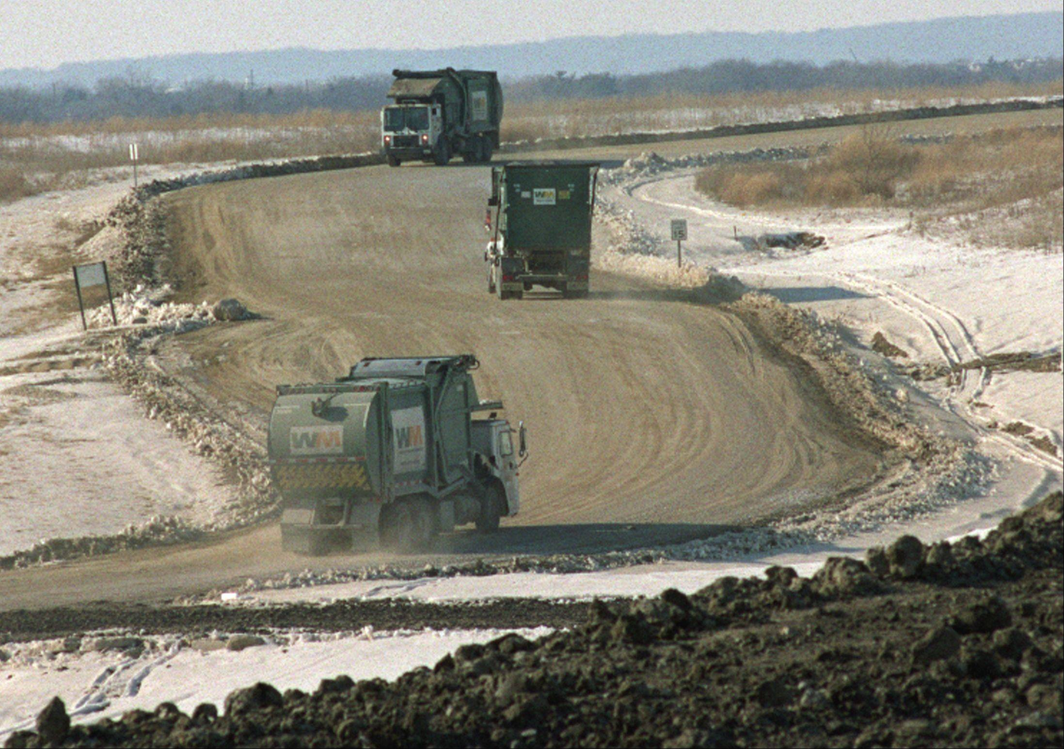 Settlers Hill is no stranger to seeing a high volume of truck traffic. In its days as an operational landfill, the facility hosted multiple Waste Management garbage trucks every day.