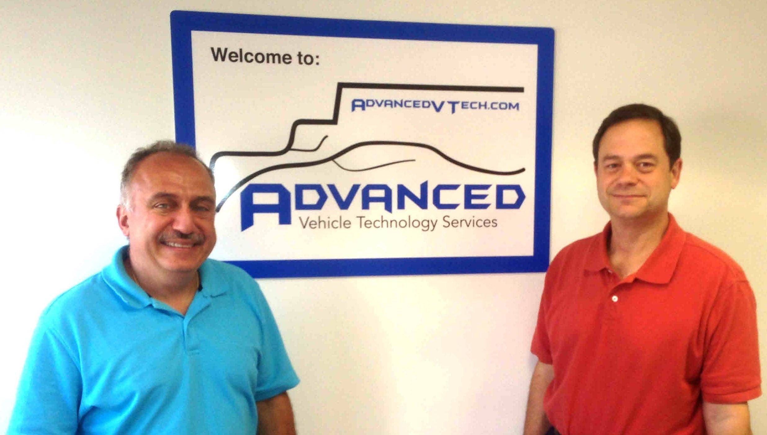 David Hagopian, vice president of operations, left, and Ron Sheble, vice president of finance, head Advanced Vehicle Technology Services Inc. in Buffalo Grove.