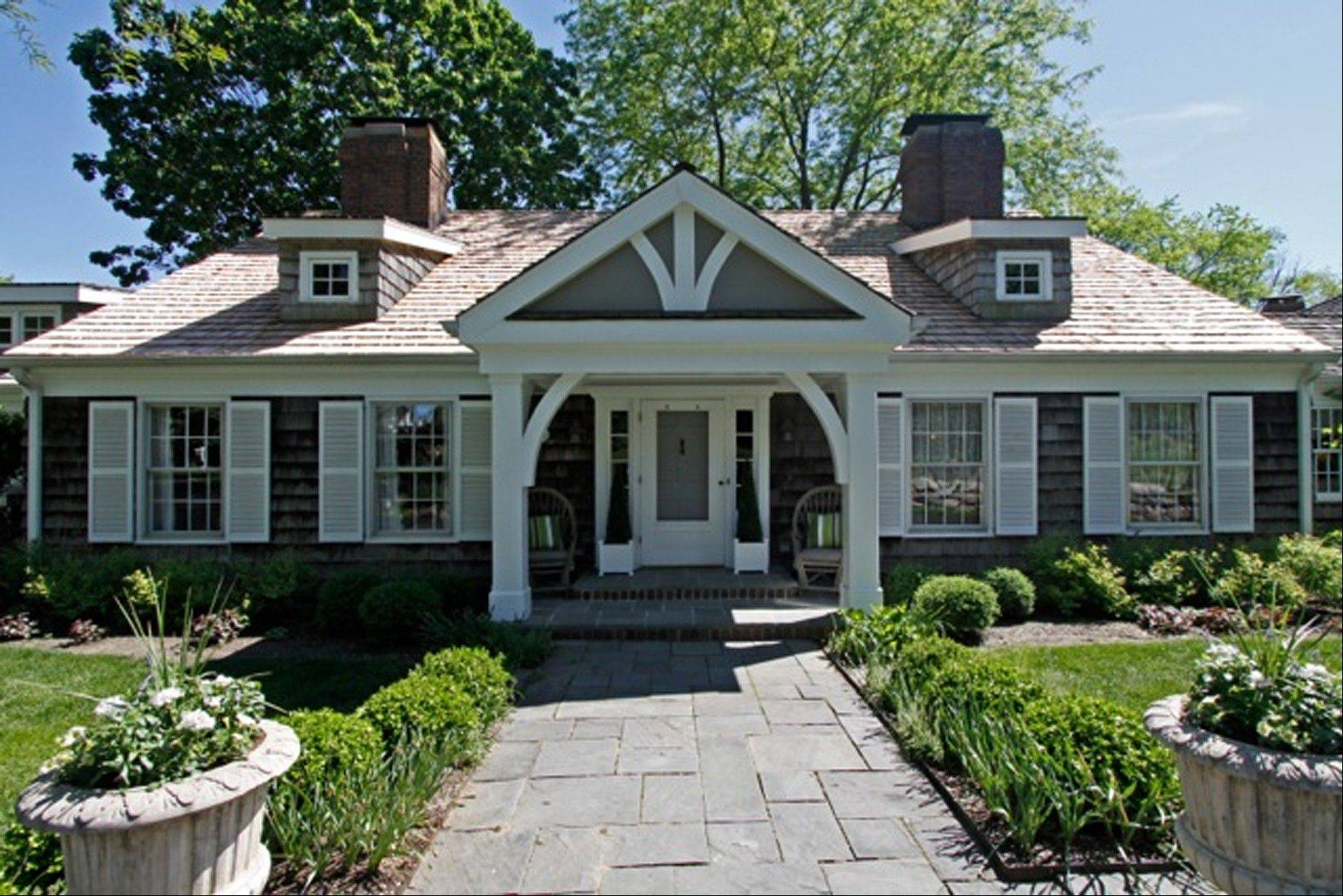 This Cape Cod in Barrington Hills was designed by Robert Parker Coffin.
