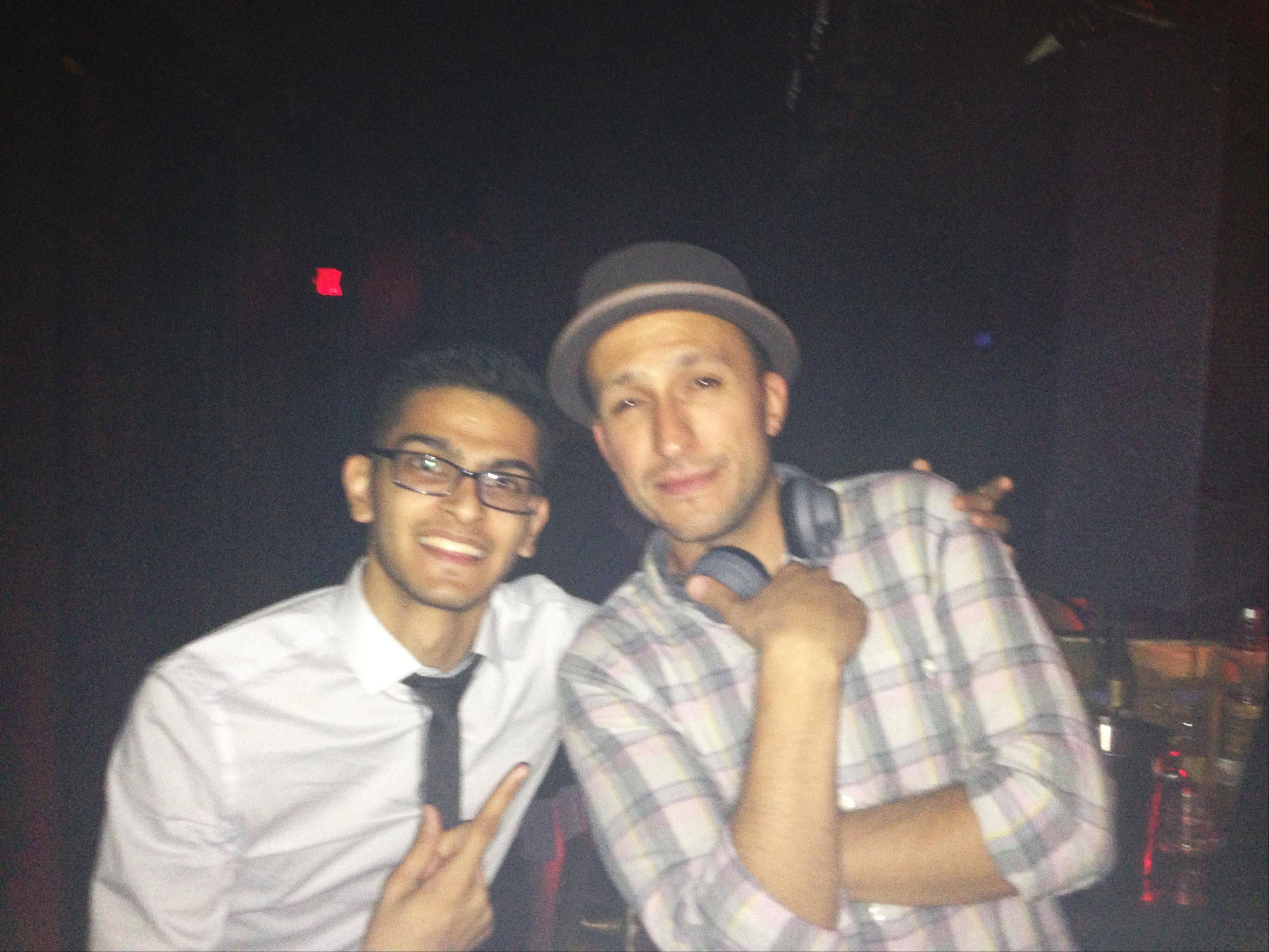 Sahaj Shah, 21, of Schaumburg recently went to Las Vegas and met DJ Vice, one of his music idols.