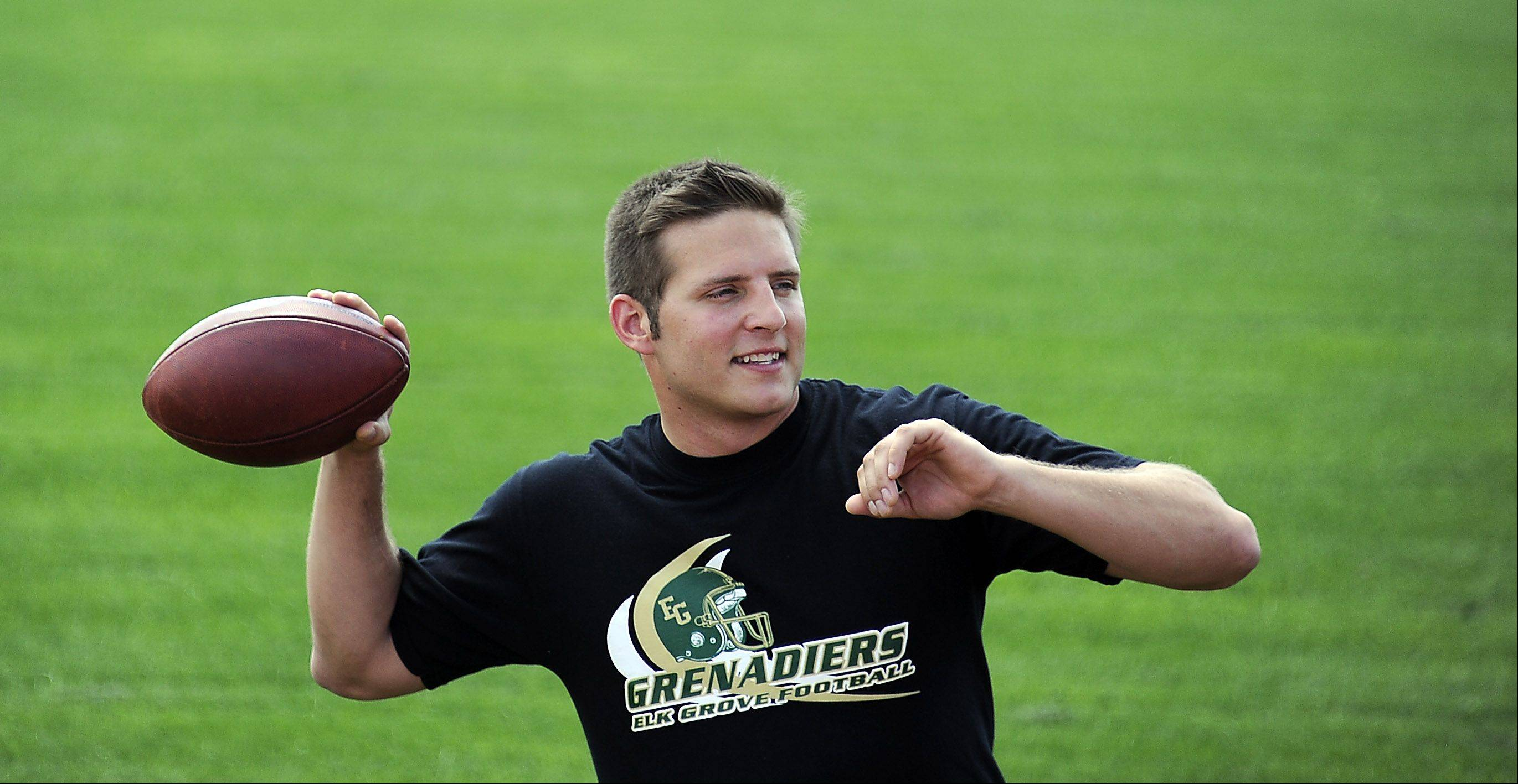 Elk Grove High School graduate Tom Kudyba, 28, a former quarterback for the school's football team, said his goal is to one day be the head coach for the school. But for now, he is going to Brazil to be the head coach for a professional football team there.