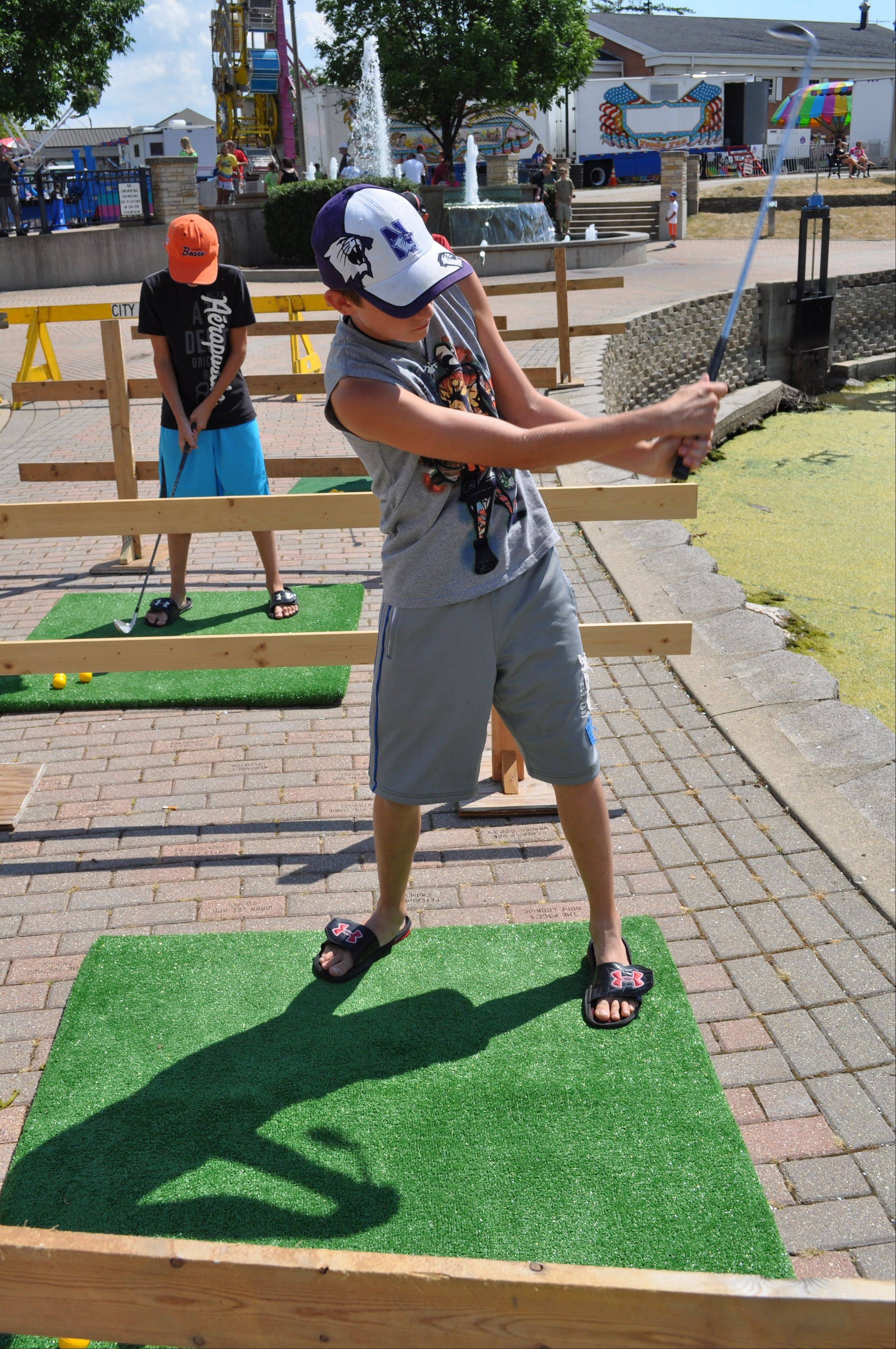The Golf Challenge offers festival-goers the opportunity to take a whack at golfing. Ages 10 and older are welcome to participate. The challenge runs 2 p.m. to 6 p.m. Saturday at the Depot Pond.
