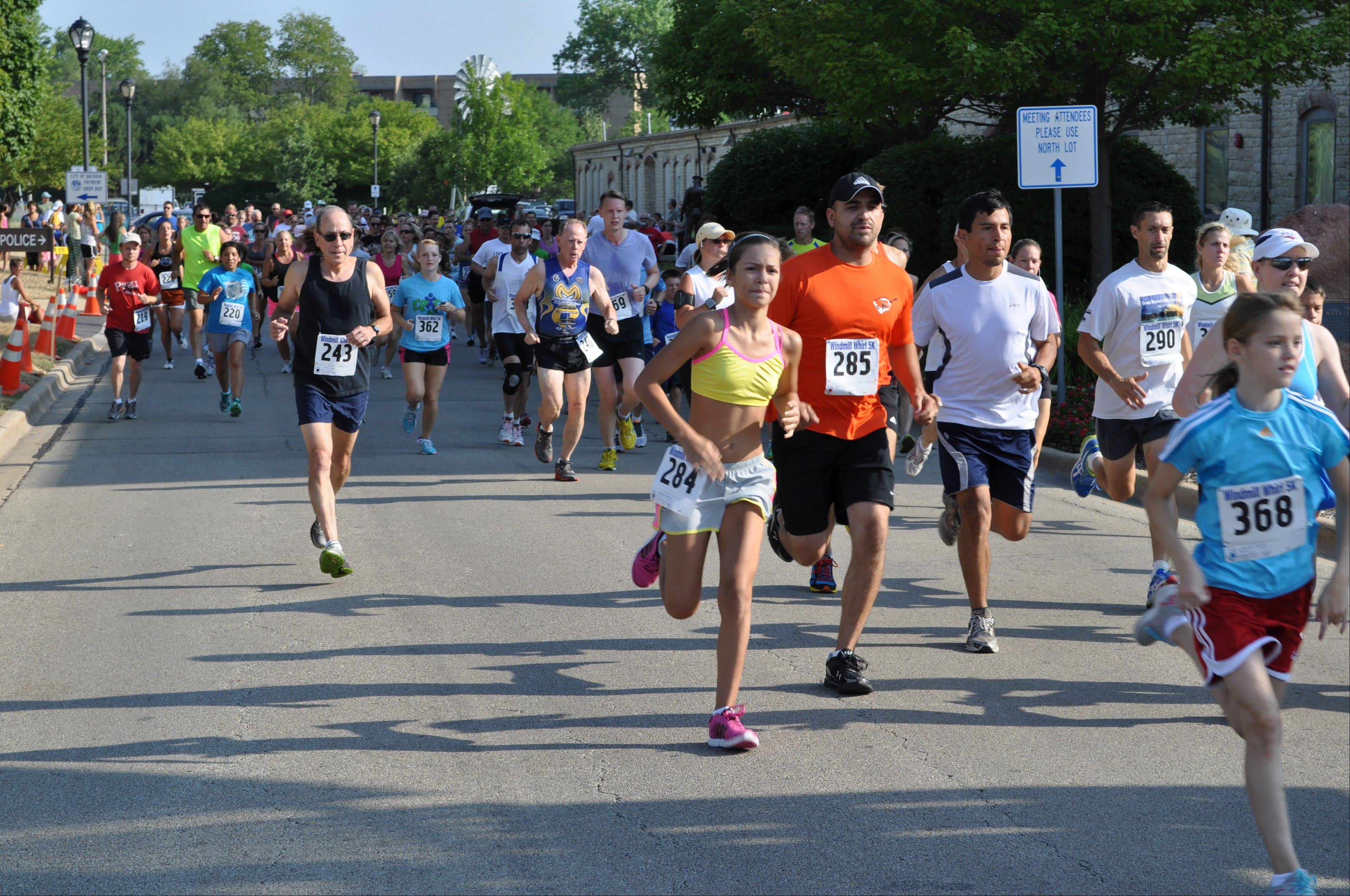 The 5K Windmill Whirl along the Fox River Trail will begin at Island Avenue. The annual race starts at 8:30 a.m. Saturday following the Youth 1-Mile Run at this year's Windmill City Festival in Batavia.