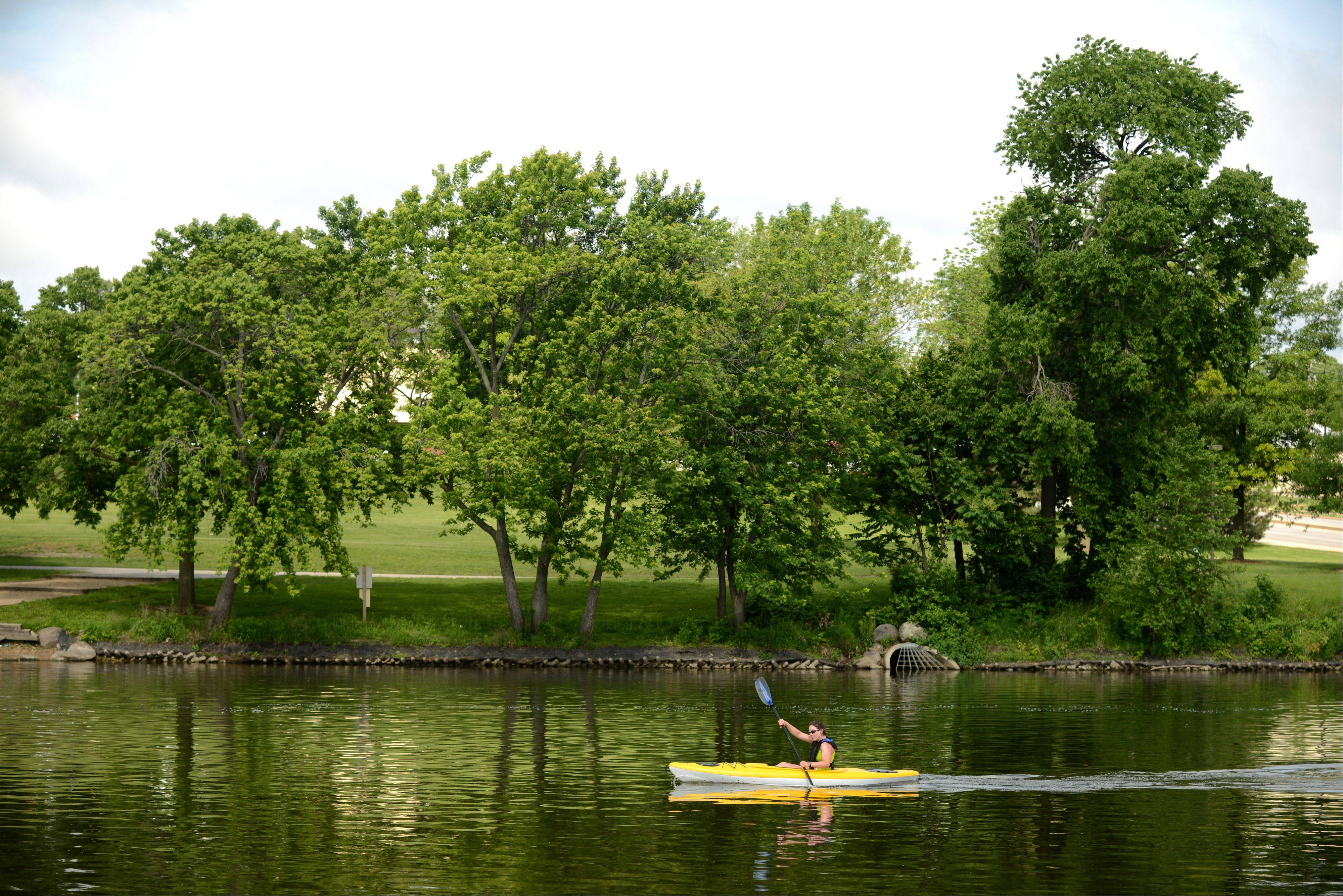 Urban recreation along the Fox River may increase as paddlers have a new place to launch and dock their kayaks at RiverEdge Park.