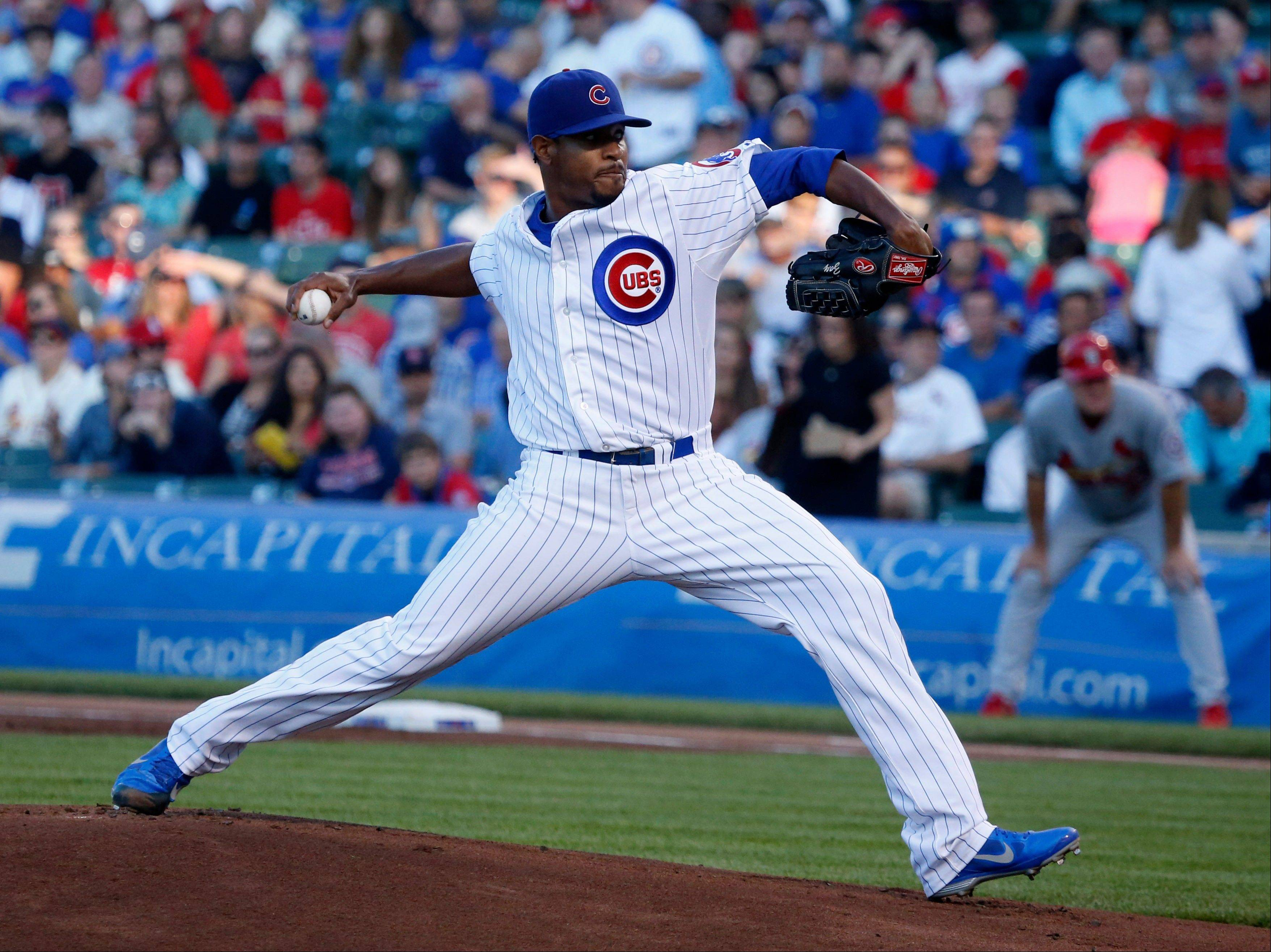 Cubs starting pitcher Edwin Jackson earned his third straight victory by shutting down the Cardinals on Thursday night.