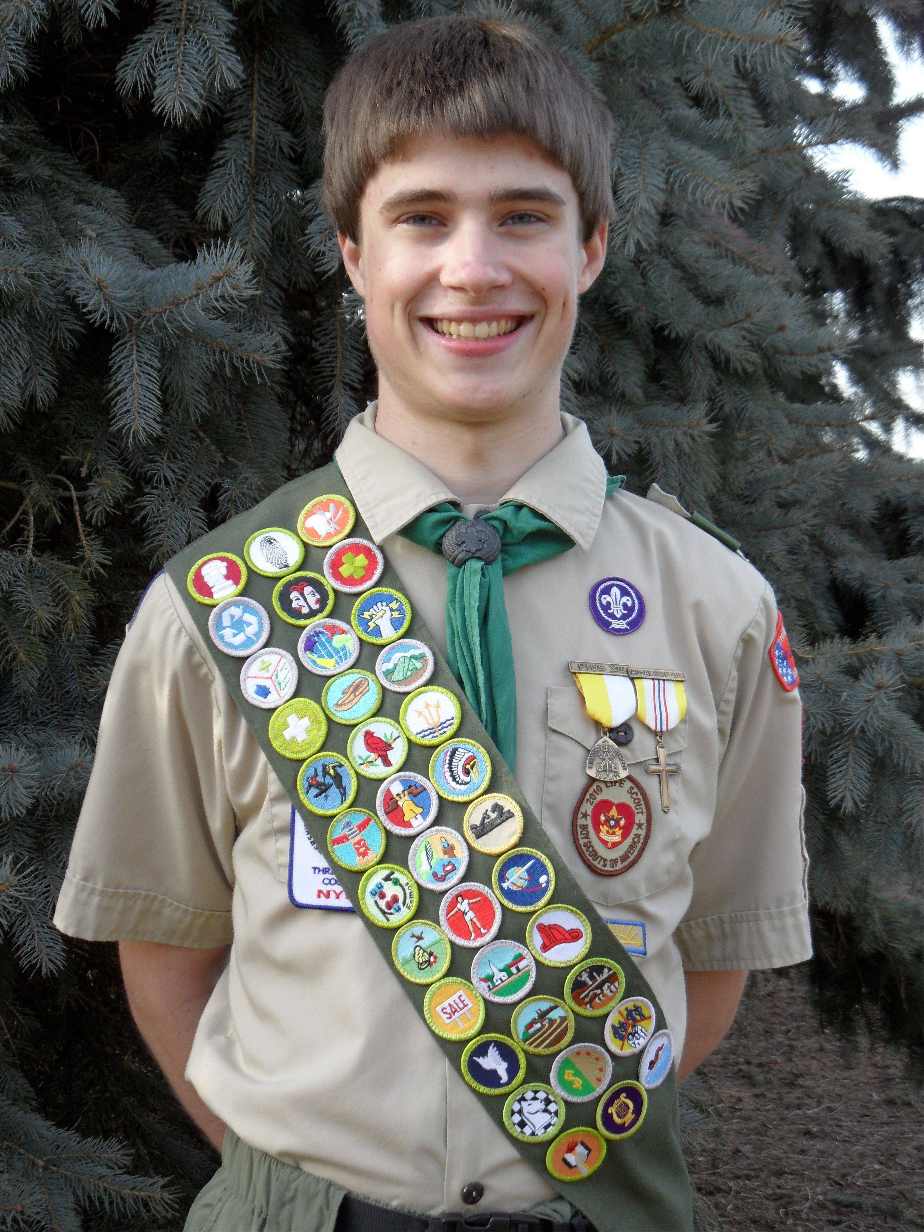 Boy Scout Troop 10 recently named Eric Vonderhaar as an Eagle Scout.