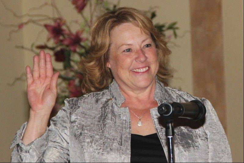 Liz Zienty became the 74th president of the Rotary Club of Naperville at its annual installation dinner.