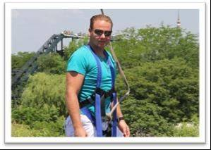 Courtesy Six Flags Great America Nik Wallenda, the tight rope walker who conquered the Grand Canyon, visited Great America with his family Thursday.