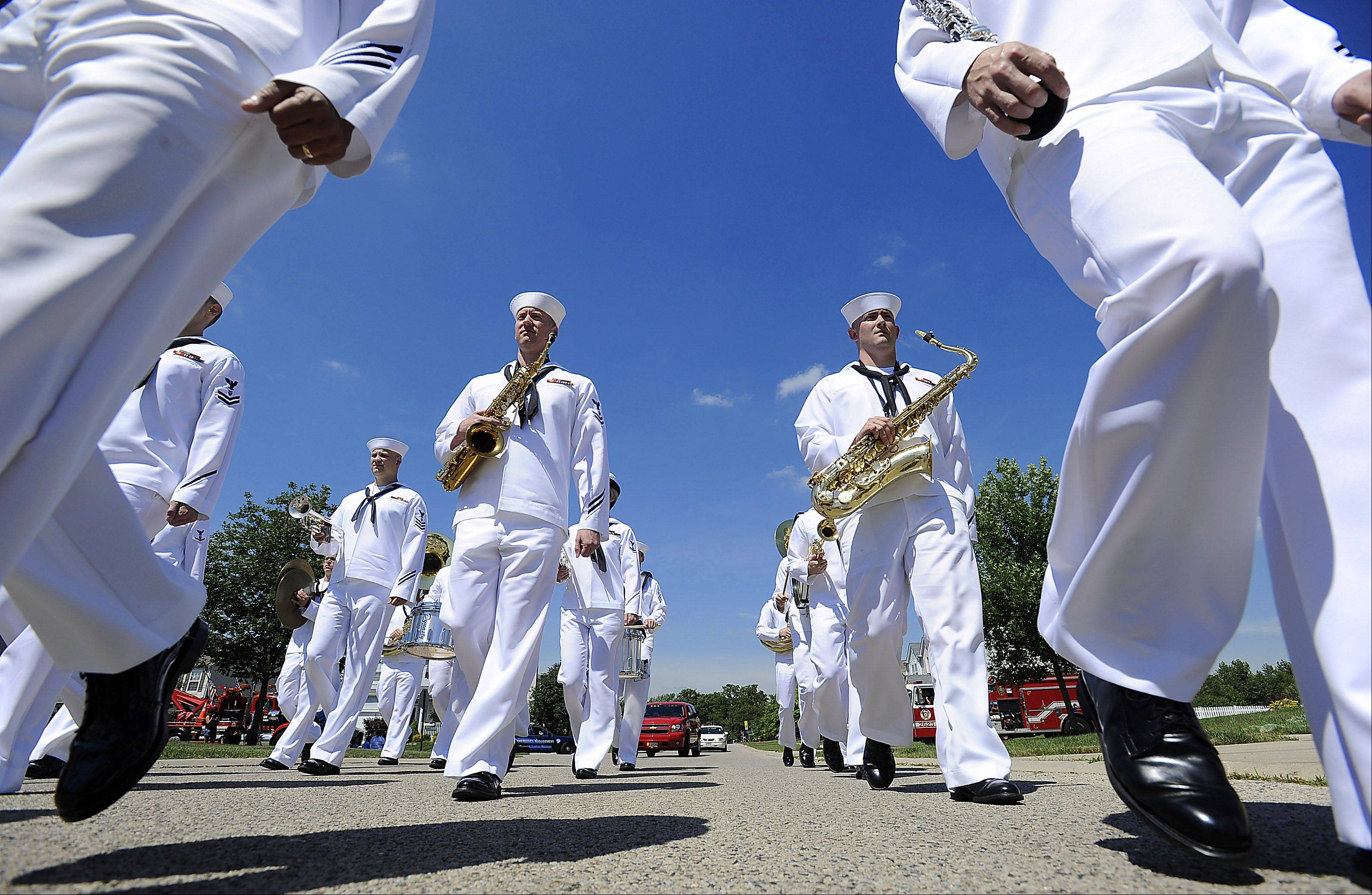 The Navy Band Great Lakes helped celebrate summer at the Round Lake Heights Festival on Saturday, July 13.
