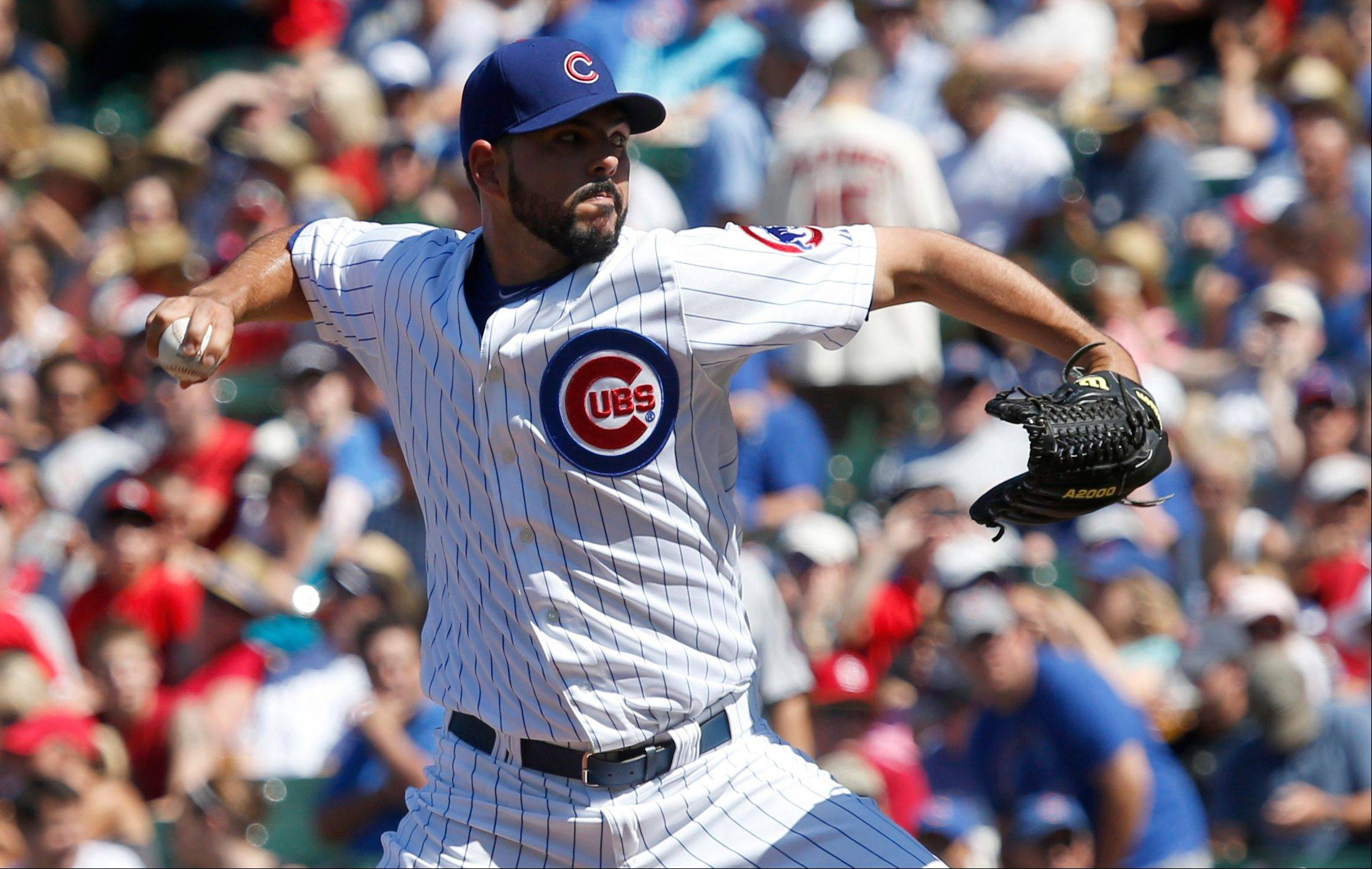 Carlos Villanueva threw 6 innings and allowed just 2 runs on 4 hits during the Cubs' loss to St. Louis on Friday.