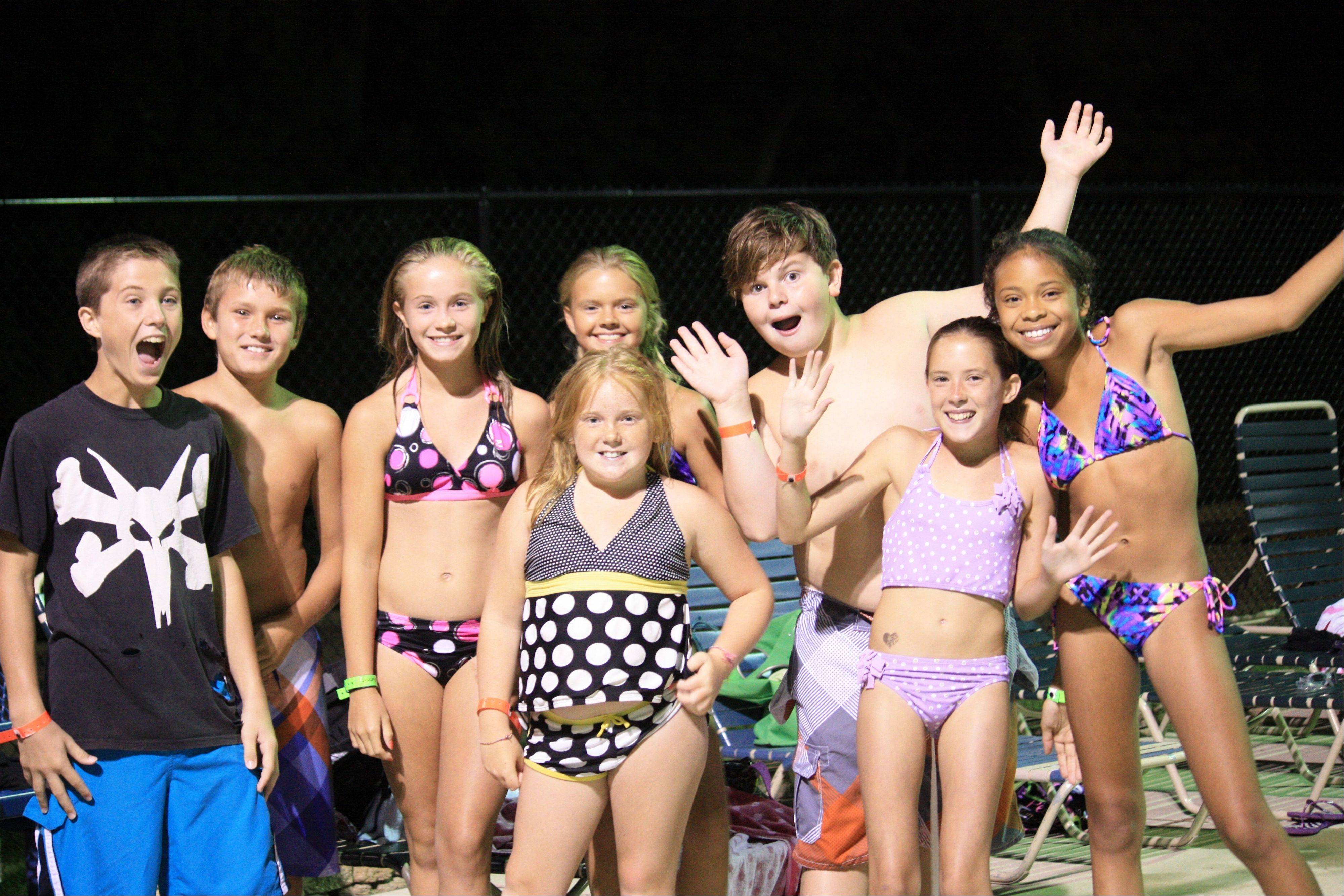 Tweens ham it up for the camera at last year's after-hours pool party. This year, the Palatine Park District will offer its pool party for tweens from 8 to 10 p.m. Friday, July 19. For information, visit palatineparks.org.