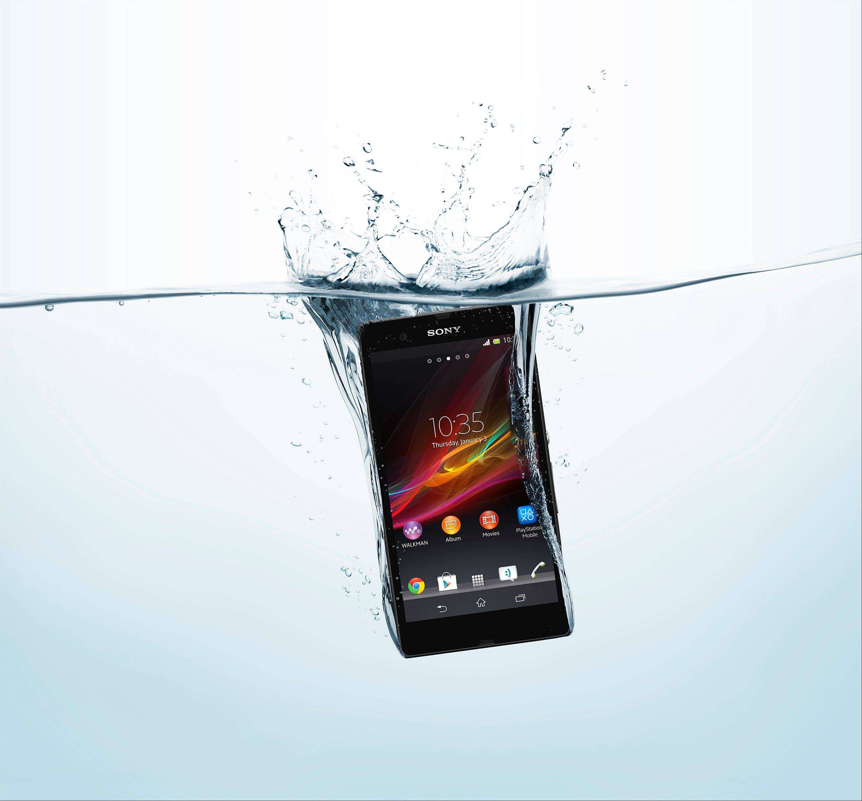 The Xperia Z, helps Sony catch up with offerings from Samsung and HTC, but one feature stands out; Its water-resistant shell means you can submerge the phone up to 3 feet deep for up to 30 minutes.
