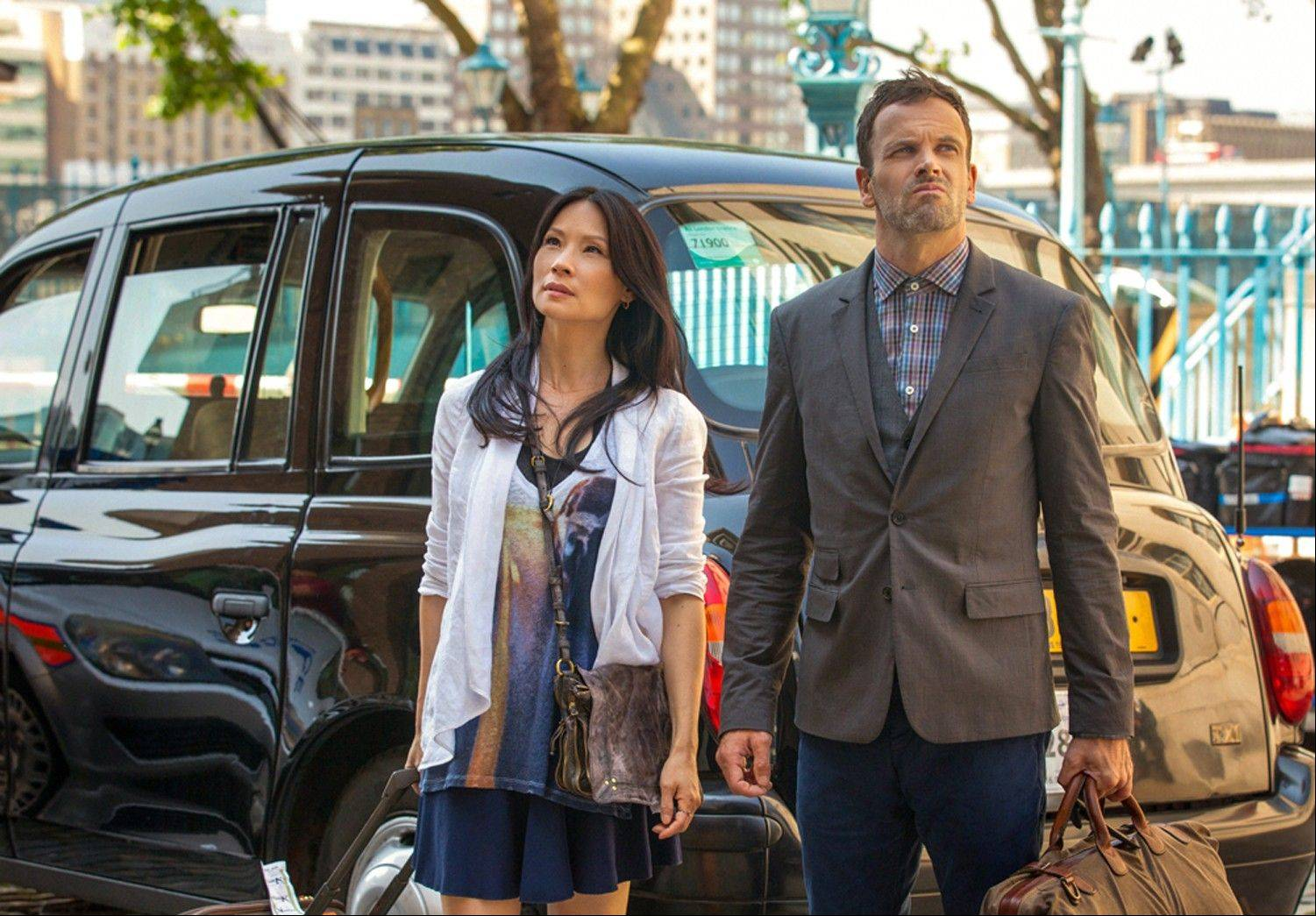 "Jonny Lee Miller and Lucy Liu film season 2 of ""Elementary"" on the banks of the Thames in London. Sherlock Holmes is back on home turf in the second-season premiere of ""Elementary"" -- and so, a bit uncomfortably, is star Jonny Lee Miller."