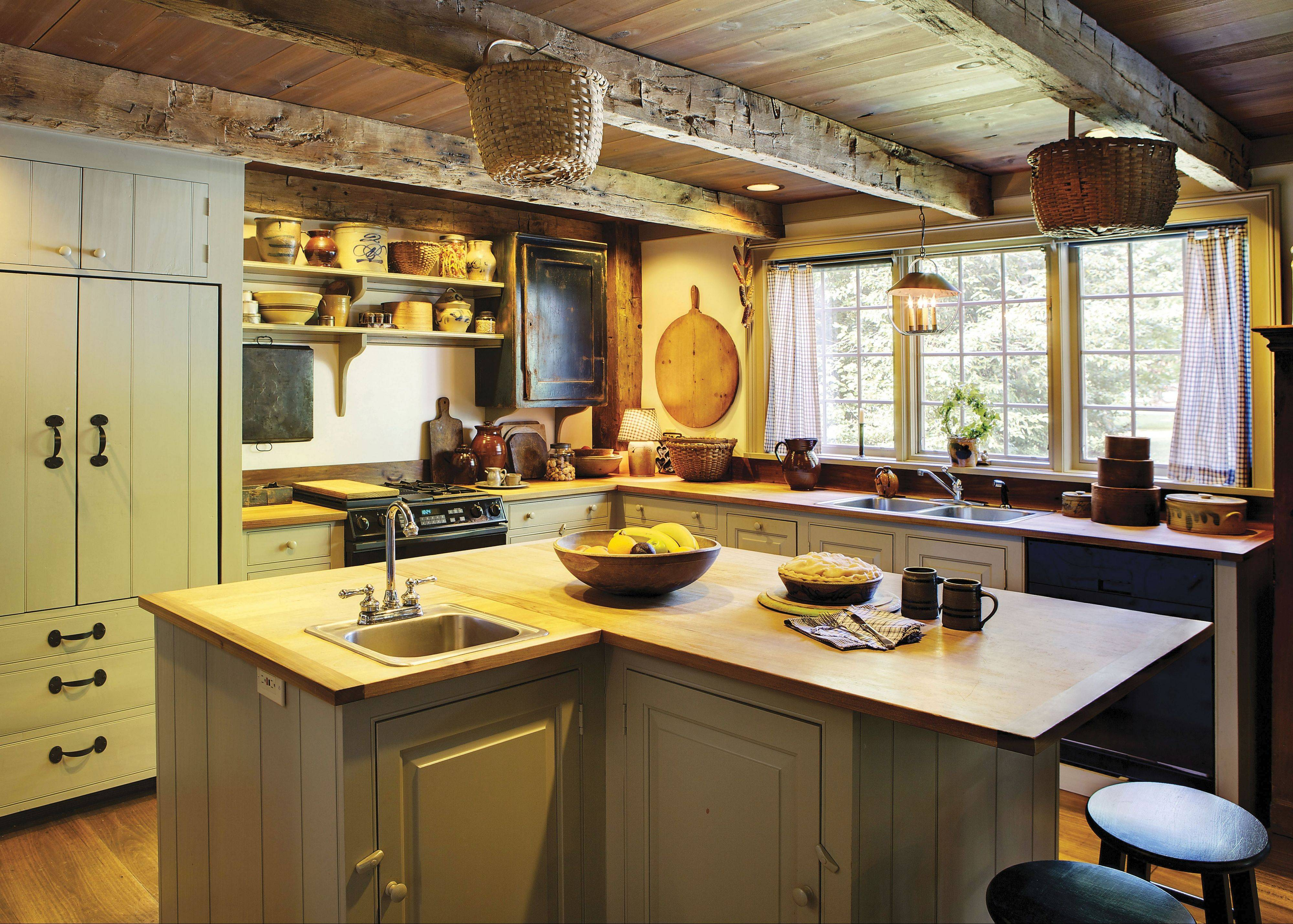 Mostly D: Rustic/FarmhouseIn a rustic kitchen, there's no question those who enter do so to cook. Big sinks, overhead pot racks and a counterop made for work are key features.