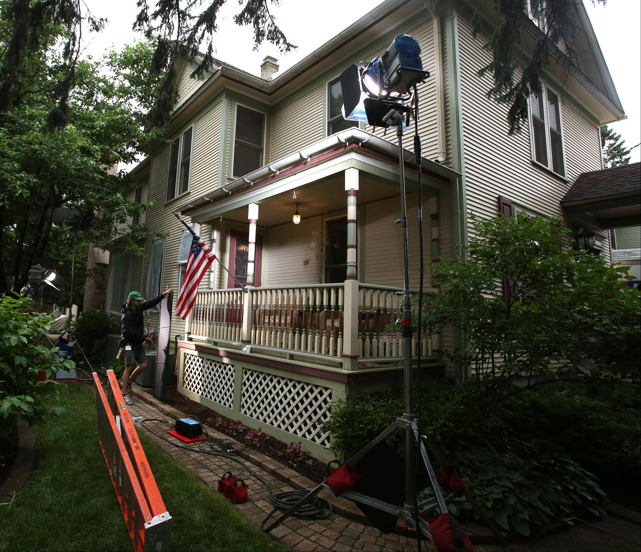 "A downtown Naperville home is used to film scenes from the movie ""Precious Mettle."" Other scenes were shot at a home in Aurora."