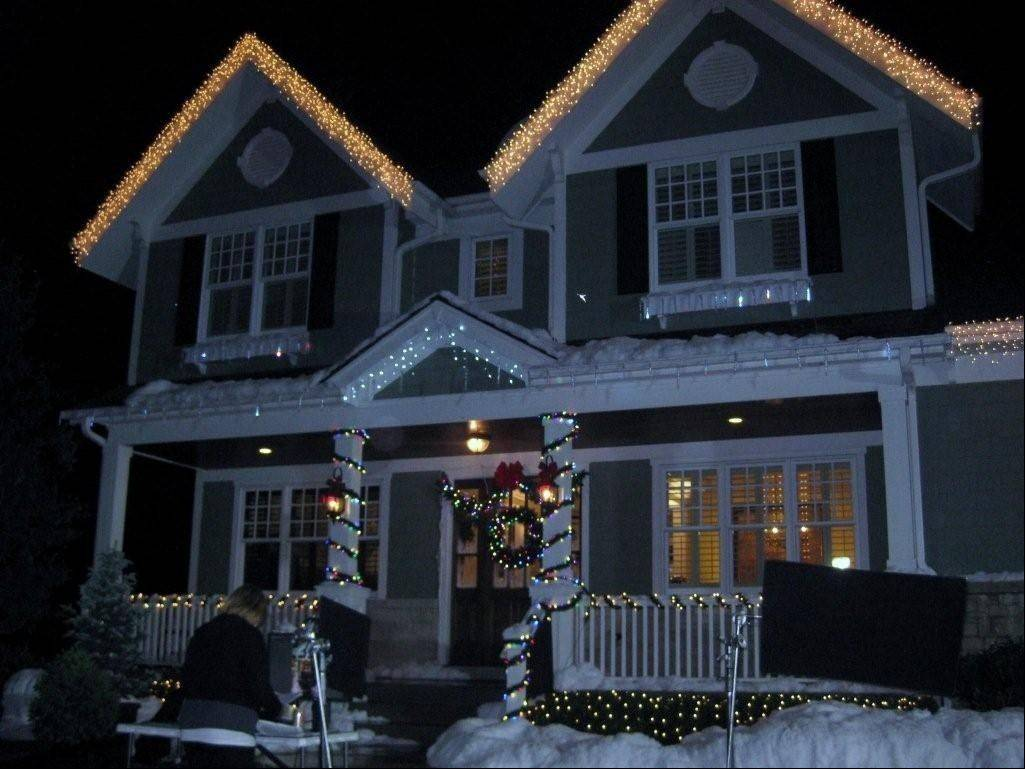 In June 2012, crews turned Terri Dieter's home into a winter wonderland for the Kmart holiday catalog photo shoot.