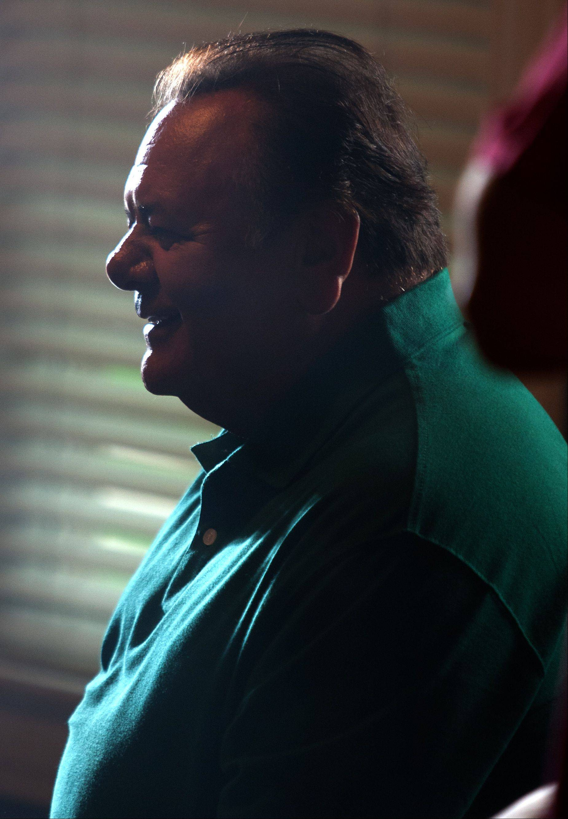 "Actor Paul Sorvino relaxes during filming of the movie ""Precious Mettle"" at a home in downtown Naperville last month."