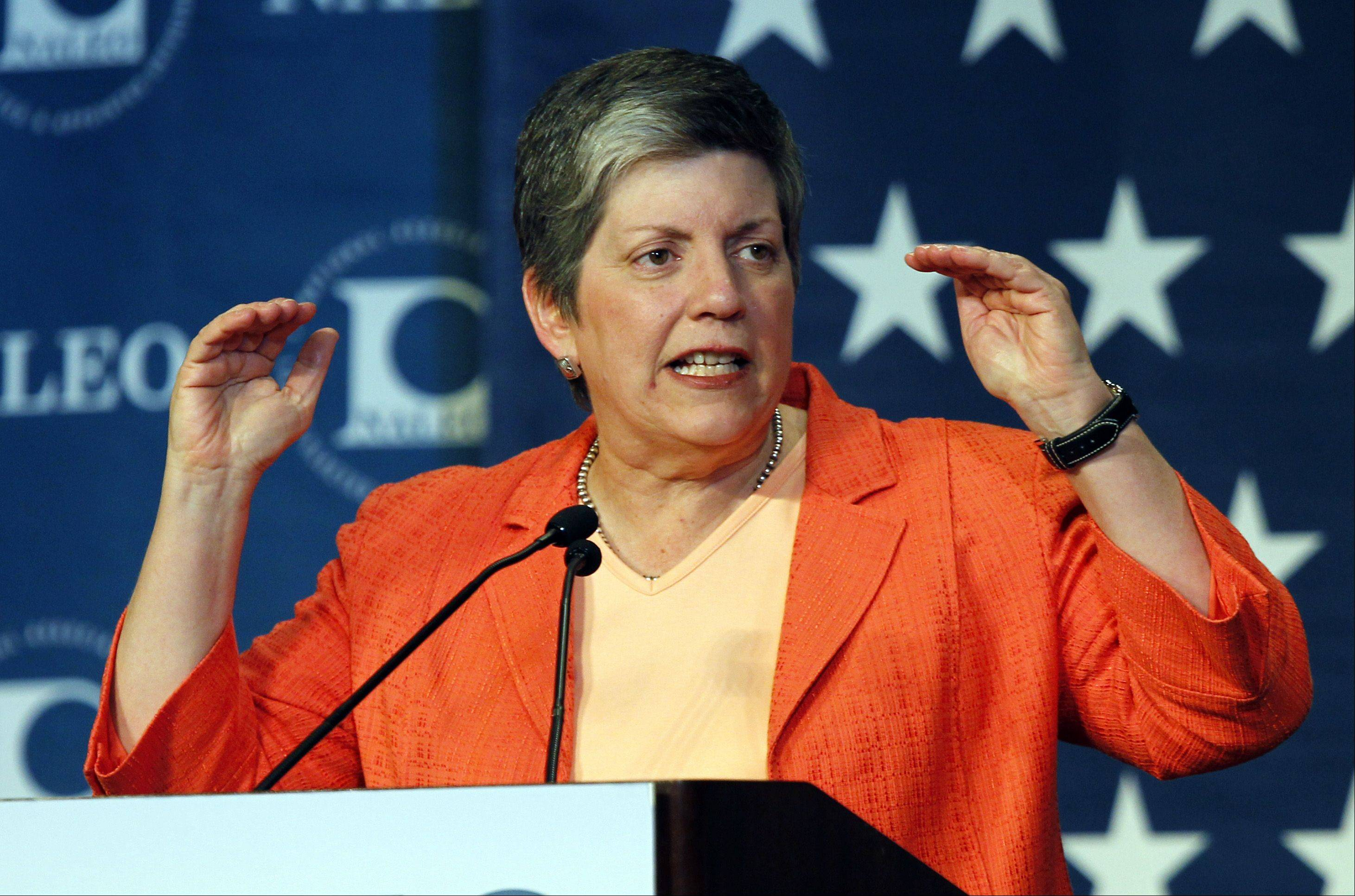 U.S. Homeland Security Secretary Janet Napolitano speaks during a luncheon to the National Association of Latino Elected and Appointed Officials in Denver in 2010.
