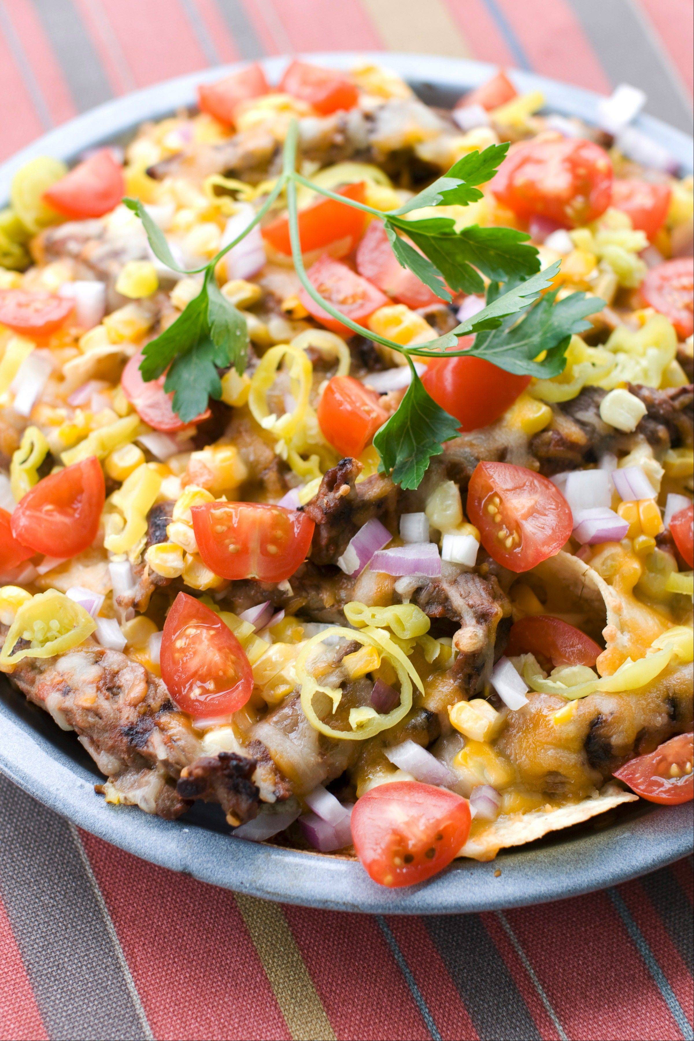 Corn and Steak Grilled Nachos
