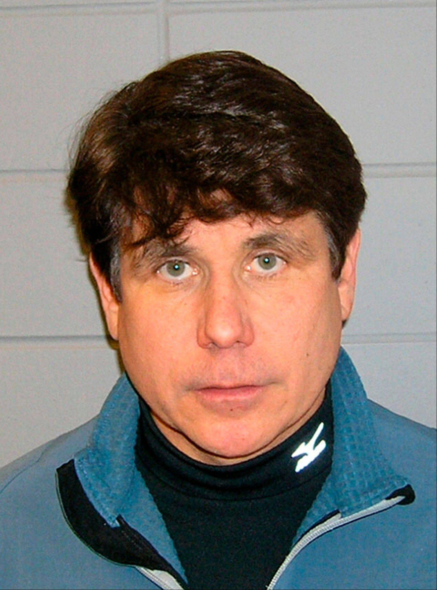 This Dec. 9, 2008, Department of Justice file booking photo shows Rod Blagojevich following his arrest in Chicago.