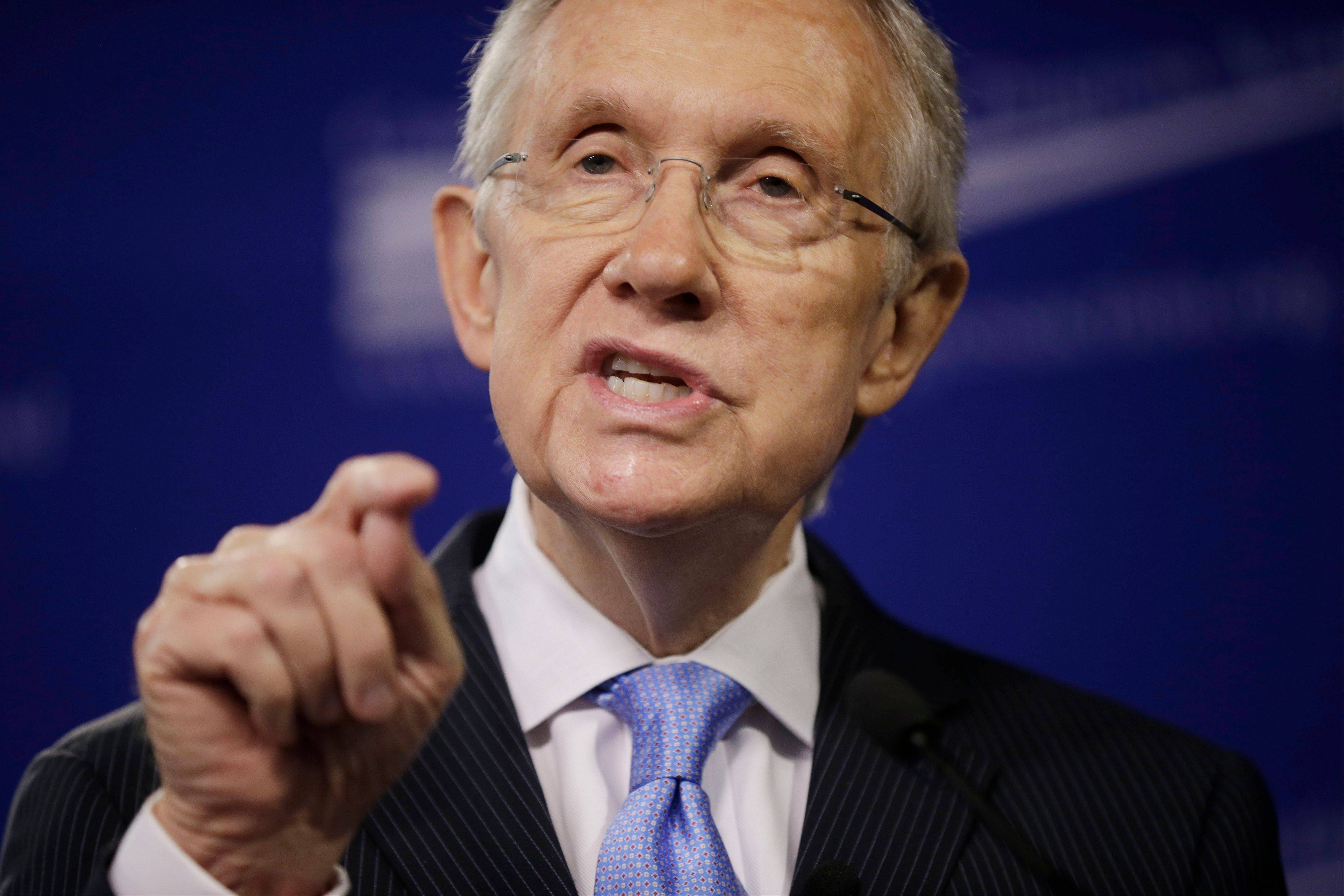 Senate Majority Leader Harry Reid, D-Nev., speaks at the center for American Progress Action Fund in Washington, Monday, July 15, 2013. Reid spoke about ending the current gridlock in the Senate that according to him is harming the nation�s ability to address key challenges.