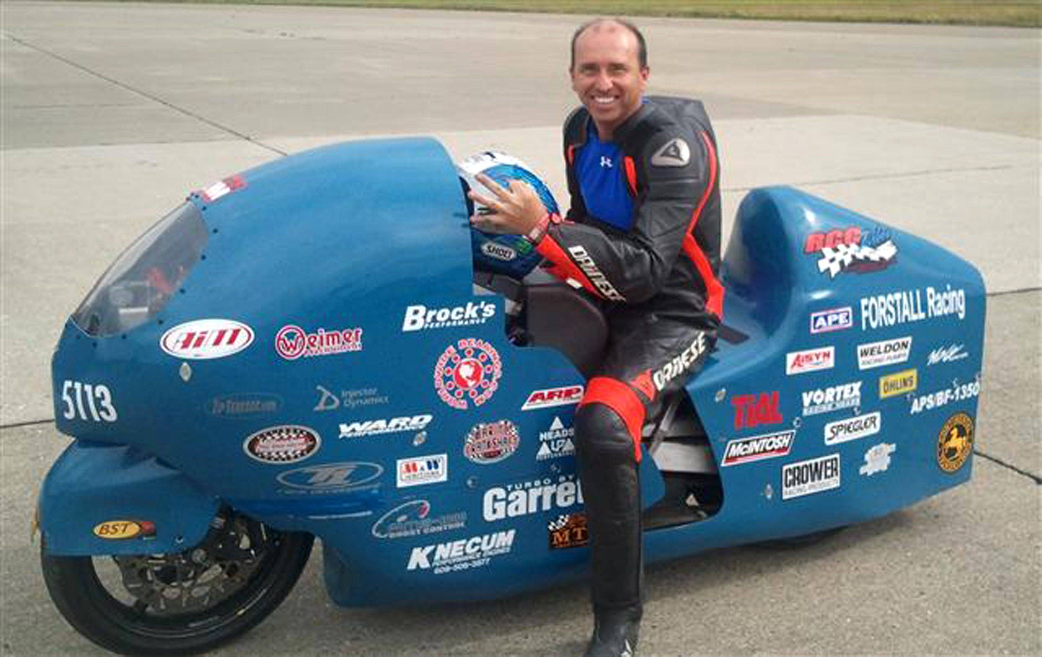 Fla. motorcycle racer dies after hitting 285 mph