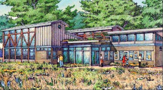 A 5,000-square-foot nature center is the main element of a $5.5 million plan for improvements at Knoch Knolls park in south Naperville. The center will be built to the highest level of green building standards with solar panels and a partial green roof.