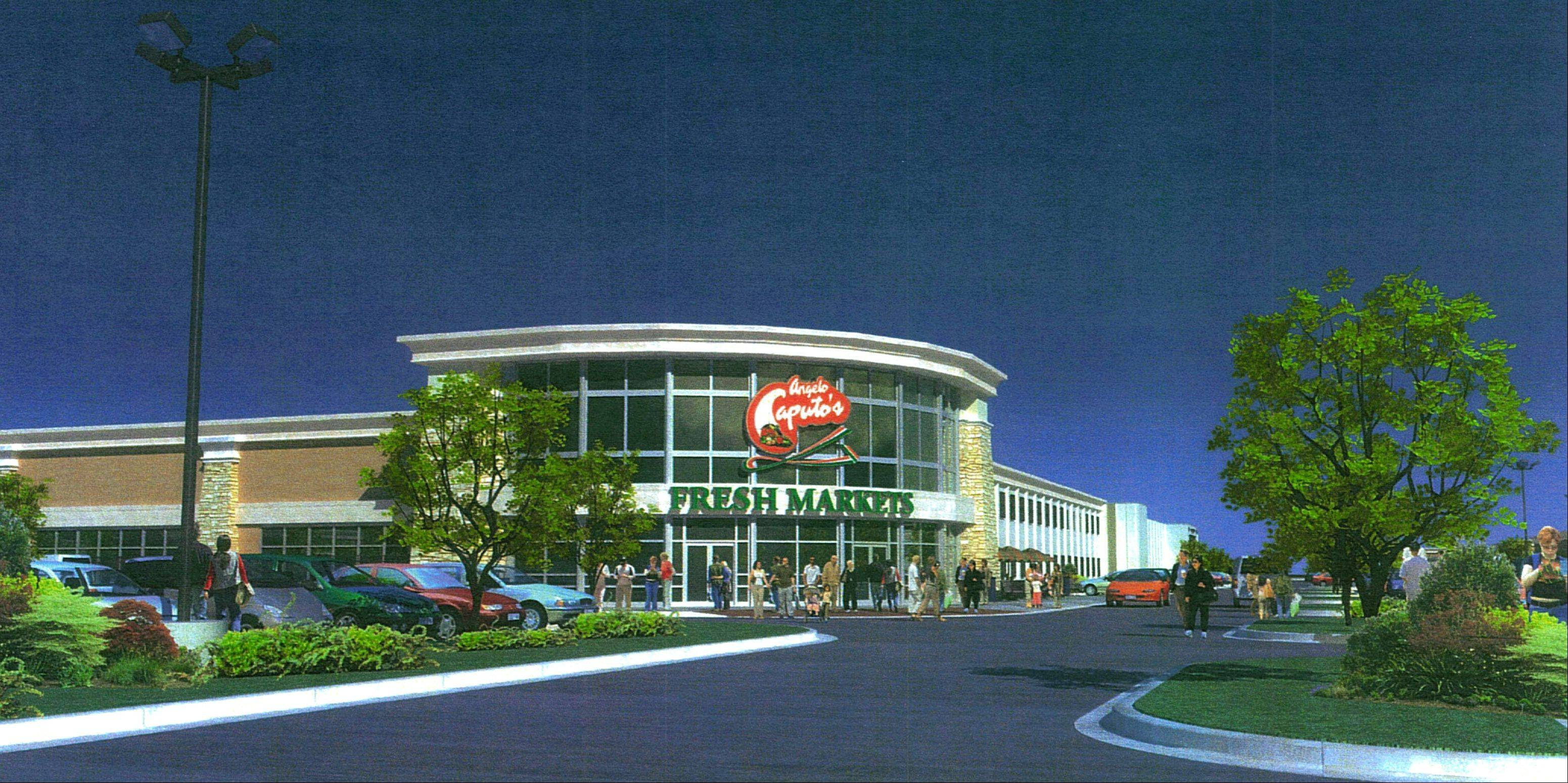 A 70,000-square-foot Angelo Caputo�s Fresh Farms Market grocery store is scheduled to open later this year or early next year at North Avenue and Schmale Road in Carol Stream.