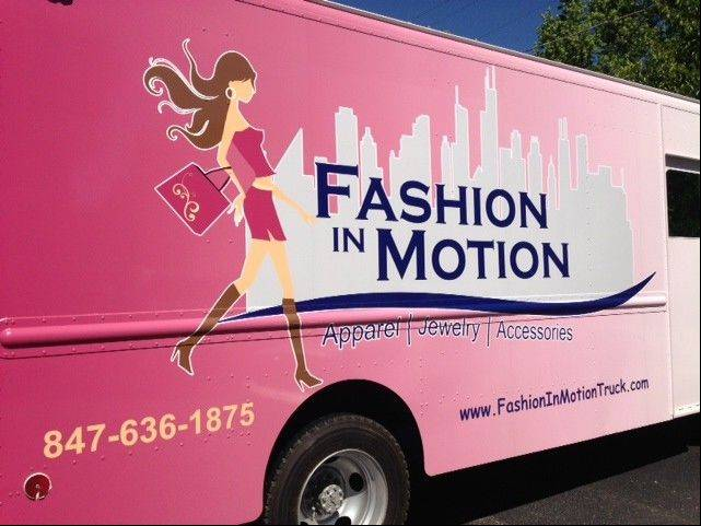 Fashion in Motion truck, a women's clothing boutique on wheels.