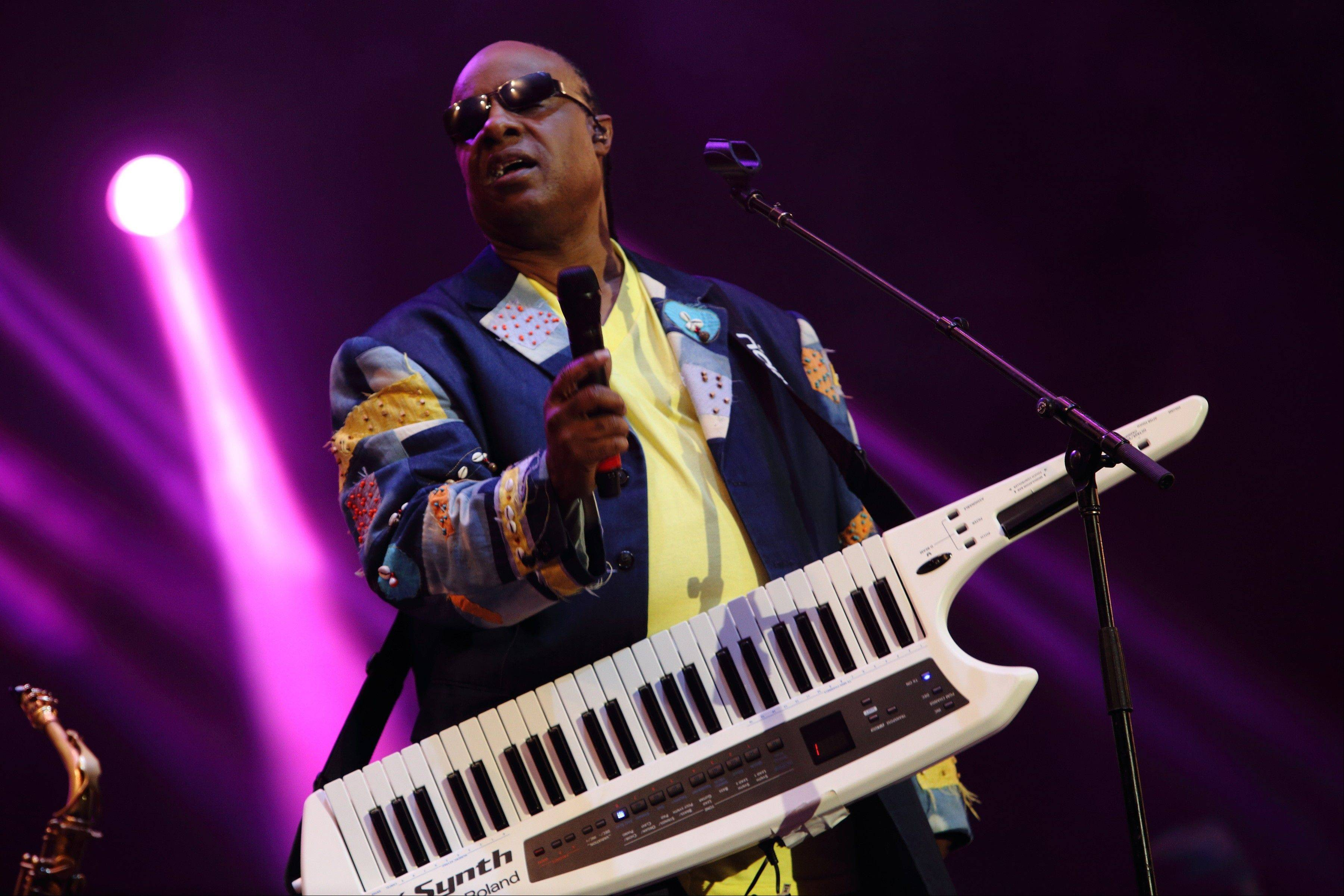 Stevie Wonder will participate in the second Global Citizen Festival on Sept. 28, 2013, in New York's Central Park with Kings of Leon, John Mayer and Alicia Keys.