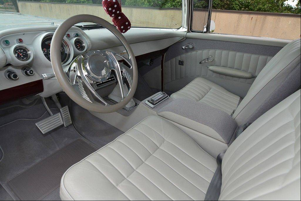 It might be a 1957 Chevrolet Nomad, but inside passengers are treated to 1968 Thunderbird seating.