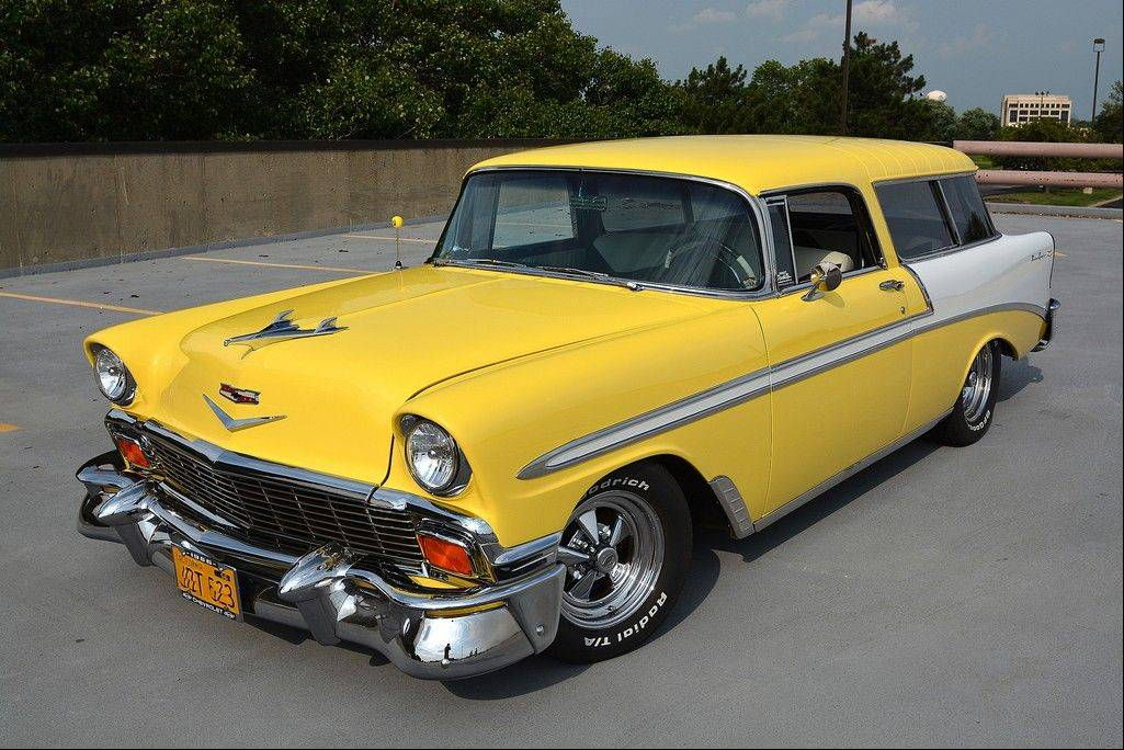 JD and Dana Stevens get a lot of road enjoyment from their restored 1956 Chevy Nomad, thanks to the reliable engine and even the Zinc Yellow paint job.