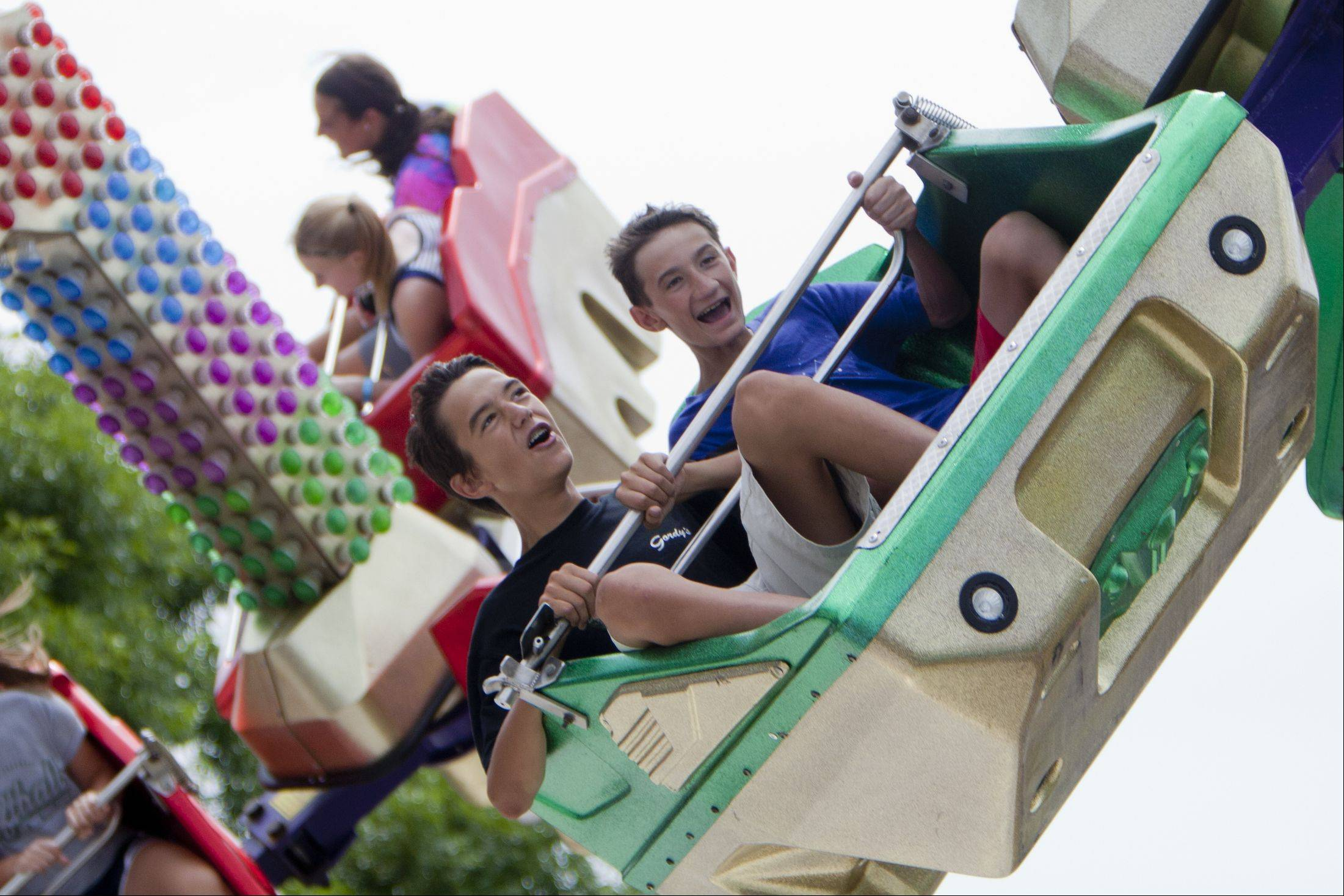 "Ride enthusiasts enjoy the ""Predator"" during the Vernon Hills Summer Celebration."