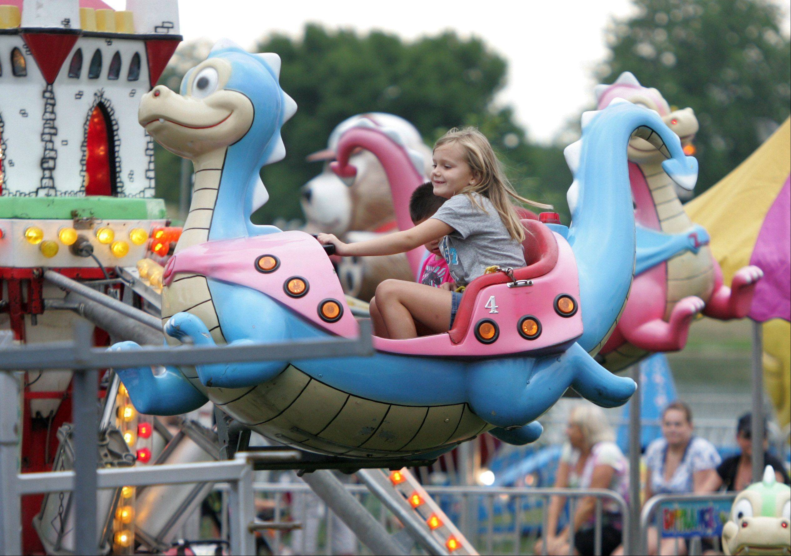 The Flying Dragons ride at last year's Summer Celebration in Vernon Hills.