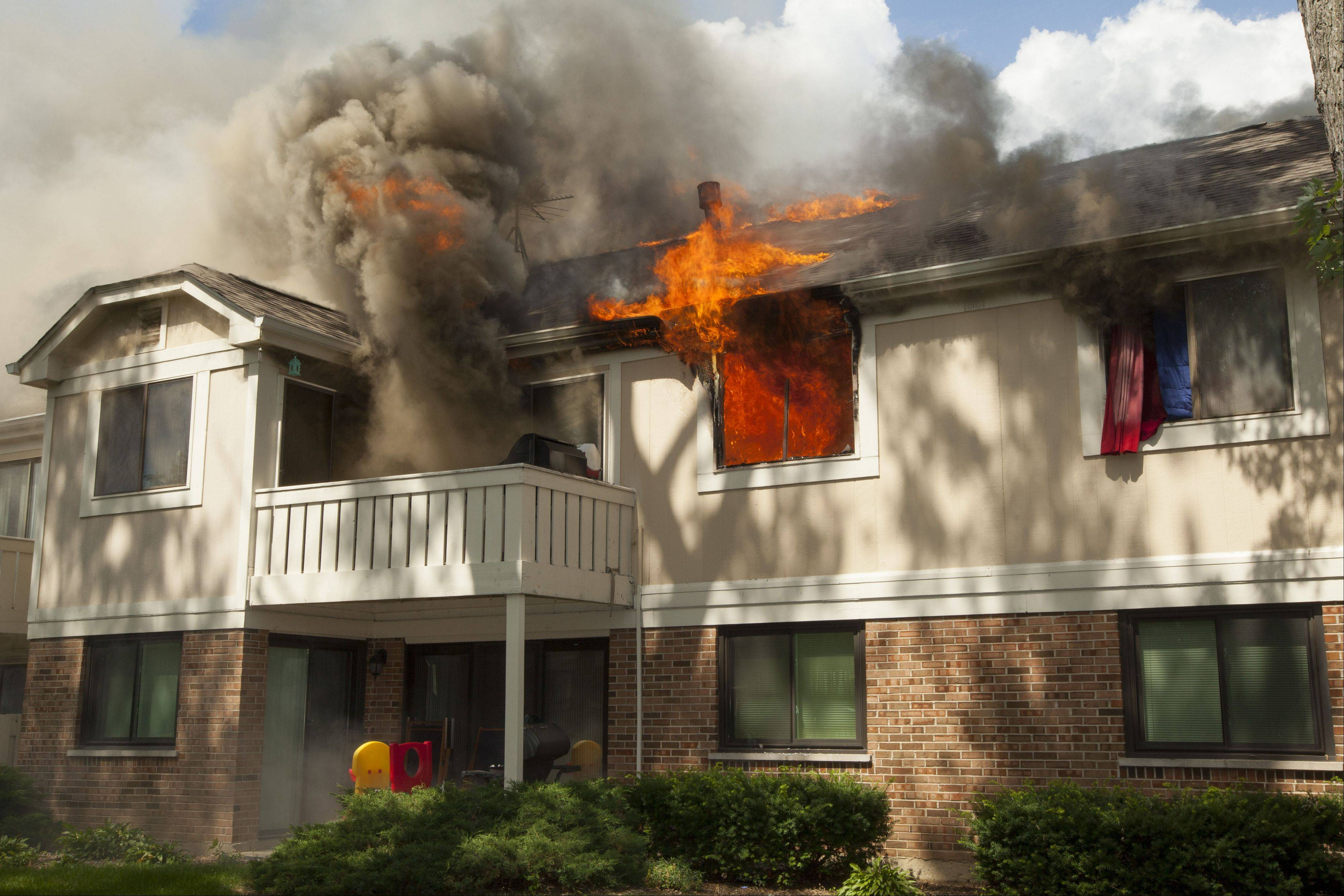 A fire in a condo on the 300 block of Thornhill Court in Schaumburg on Tuesday left four of eight units uninhabitable.