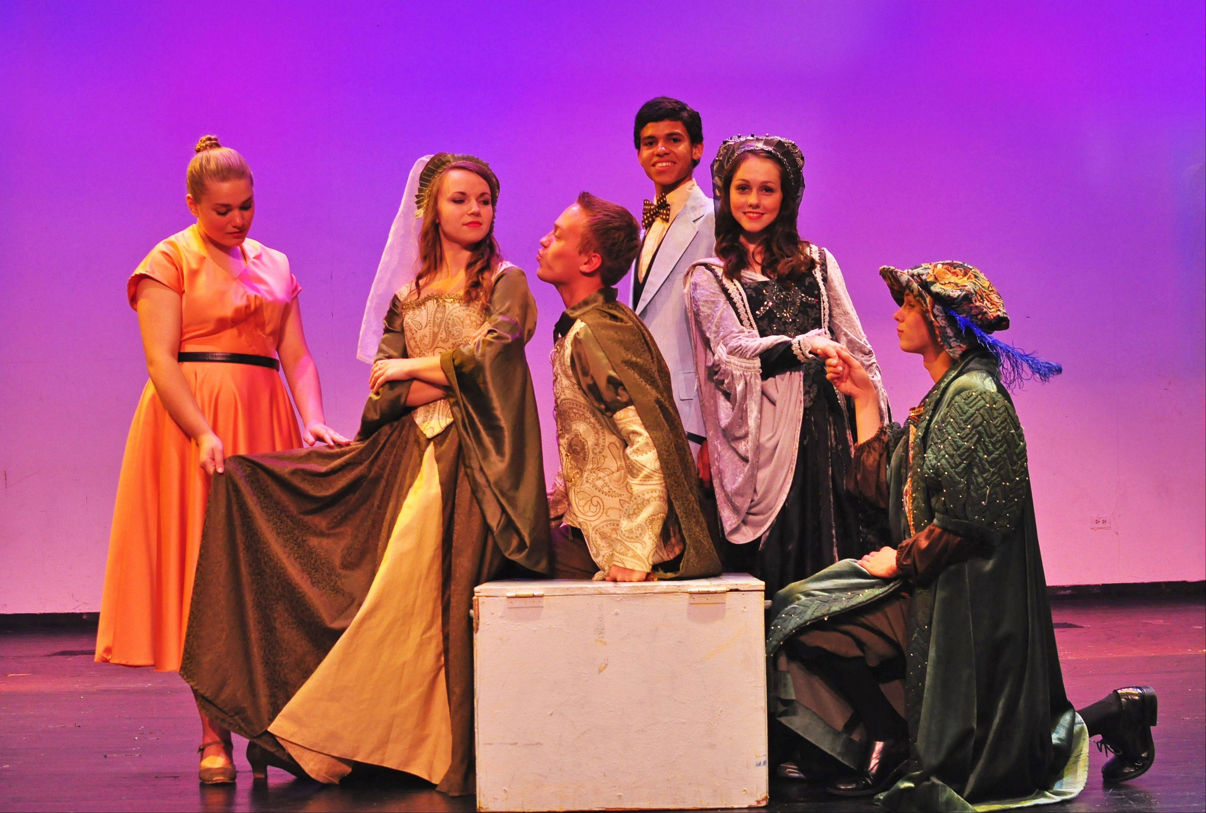 Actors in �Kiss Me Kate,� from left: Mary Godby; Caitlin Claytor; Seth Groharing; Marc Ford; LeAnne Gadow and Andrew Puccetti.