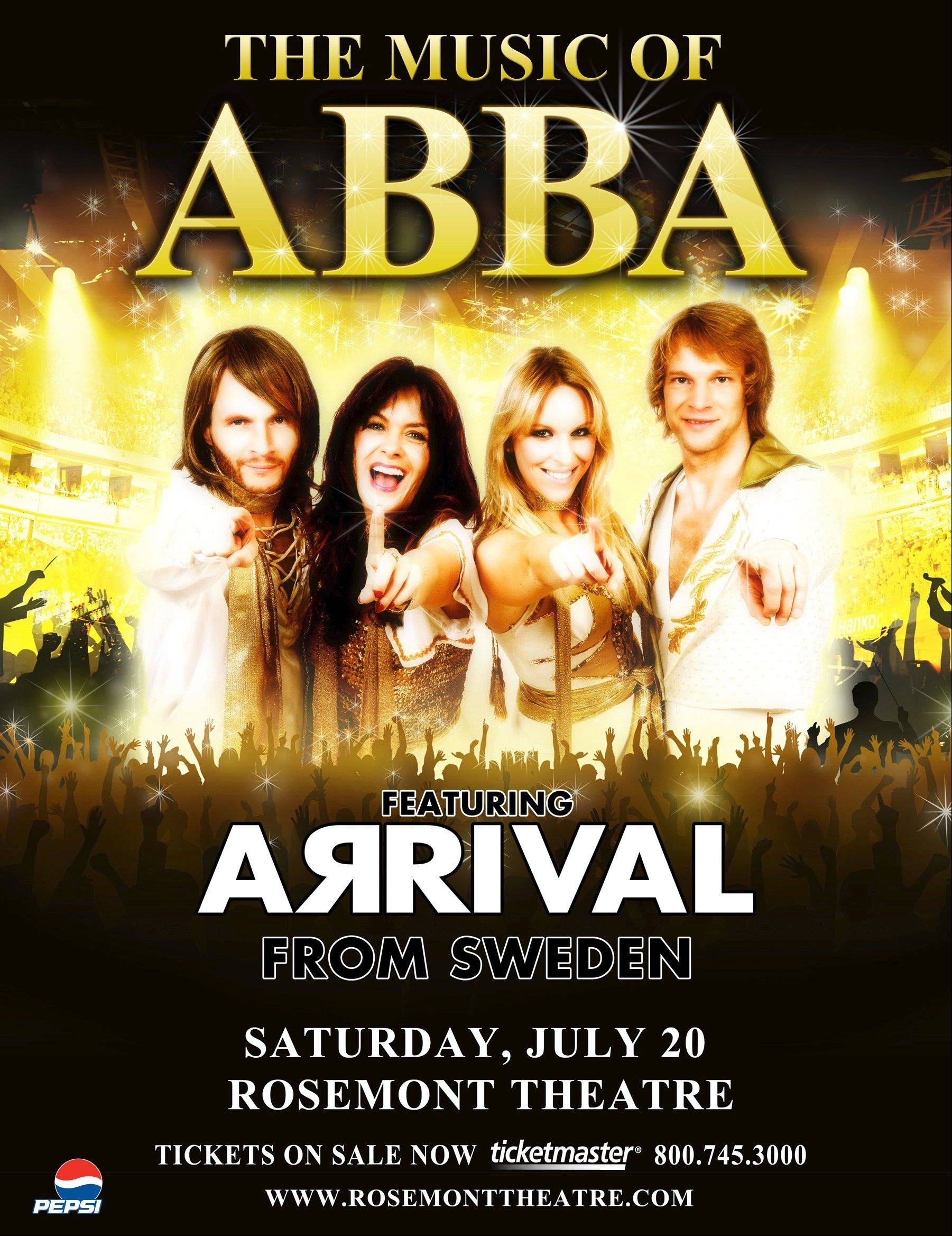 "The Swedish band Arrival performs ""The Music of ABBA"" at the Rosemont Theatre on Saturday, July 20."