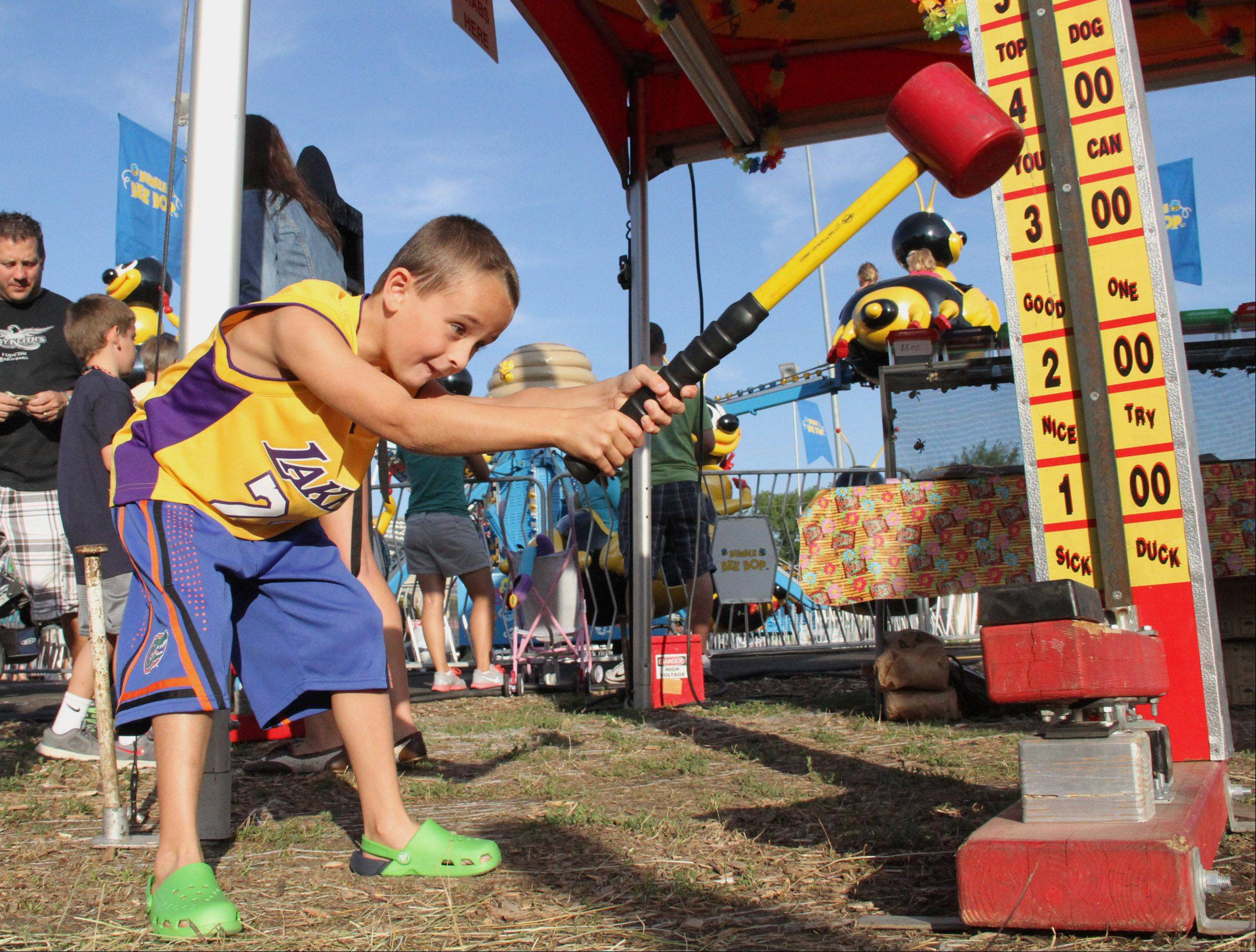 Games are part of the fun at Alpine Fest in Lake Zurich.