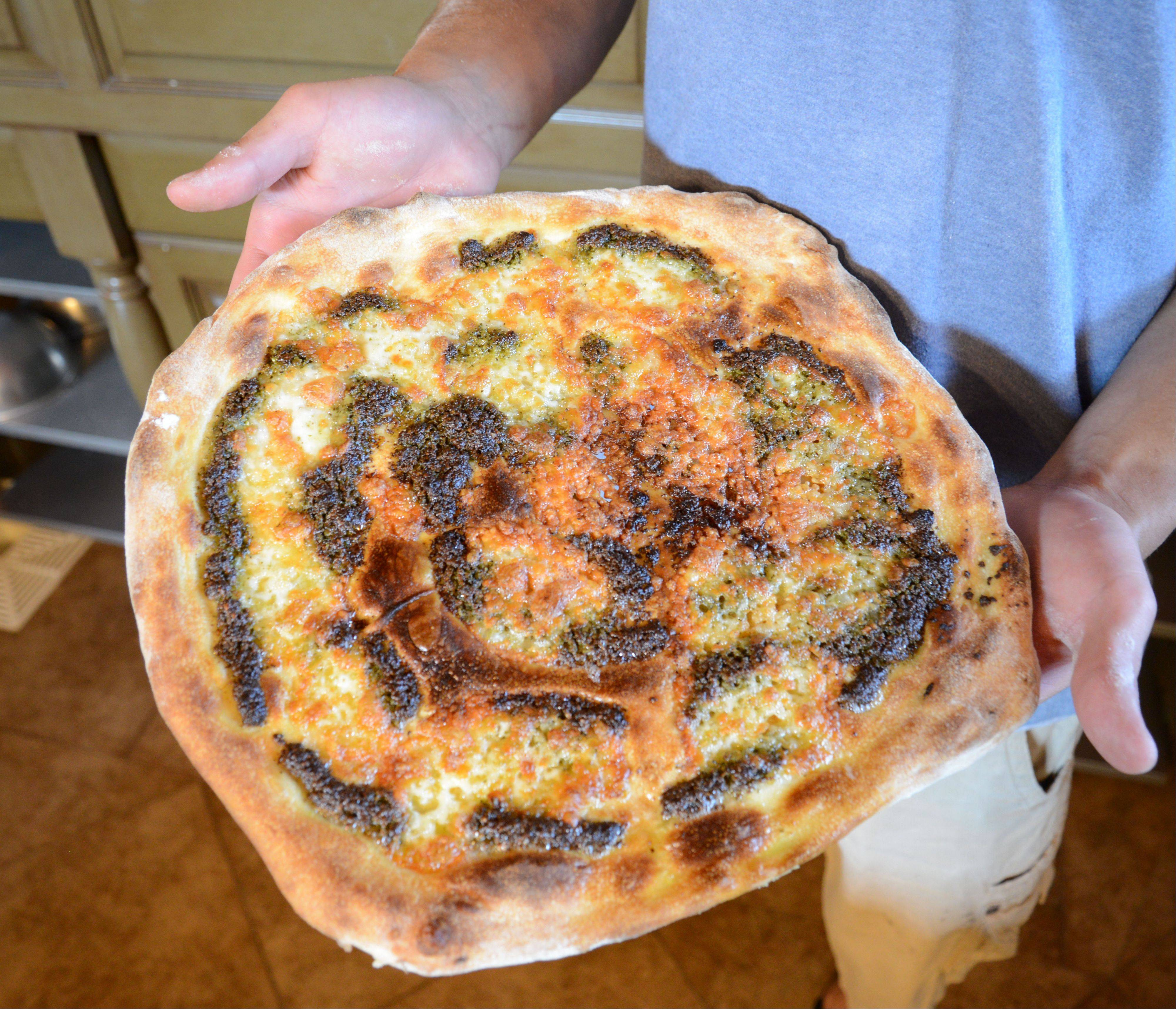 Chef Alex Ciciora's pesto pizza.