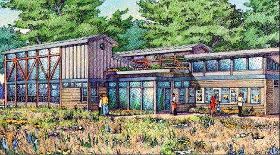 Construction began with a groundbreaking Wednesday on the Naperville Park District's first staffed nature center, a 5,000-square-foot facility that will focus on water at the site where the east and west branches of the DuPage River converge -- Knoch Knolls park.