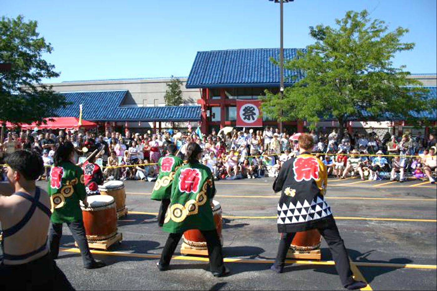 Drummers perform at last year's Mitsuwa Marketplace summer festival in Arlington Heights.