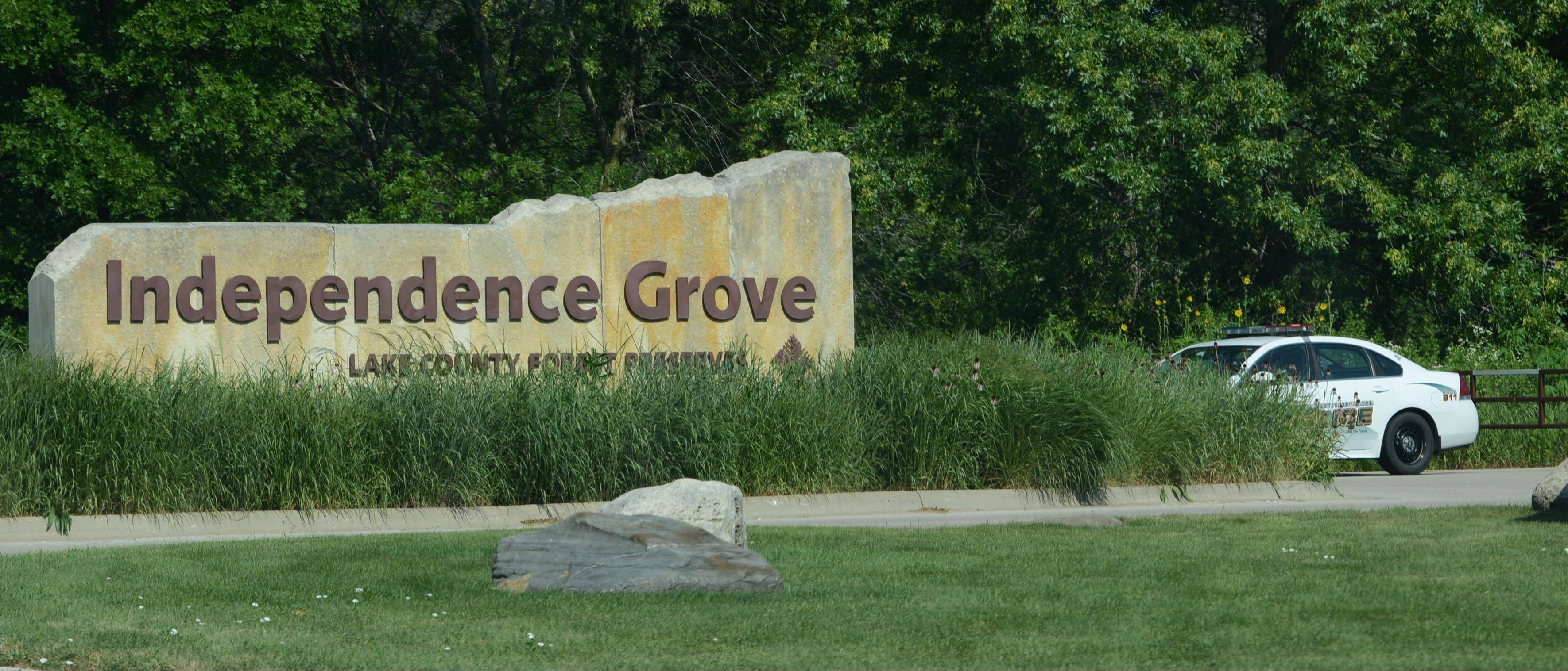 Lake County Forest Preserve District Ranger Police are blocking several entrances to Independence Grove Forest Preserve on Wednesday, following a bomb threat received Tuesday night. The preserve near Libertyville will remain closed until further notice.