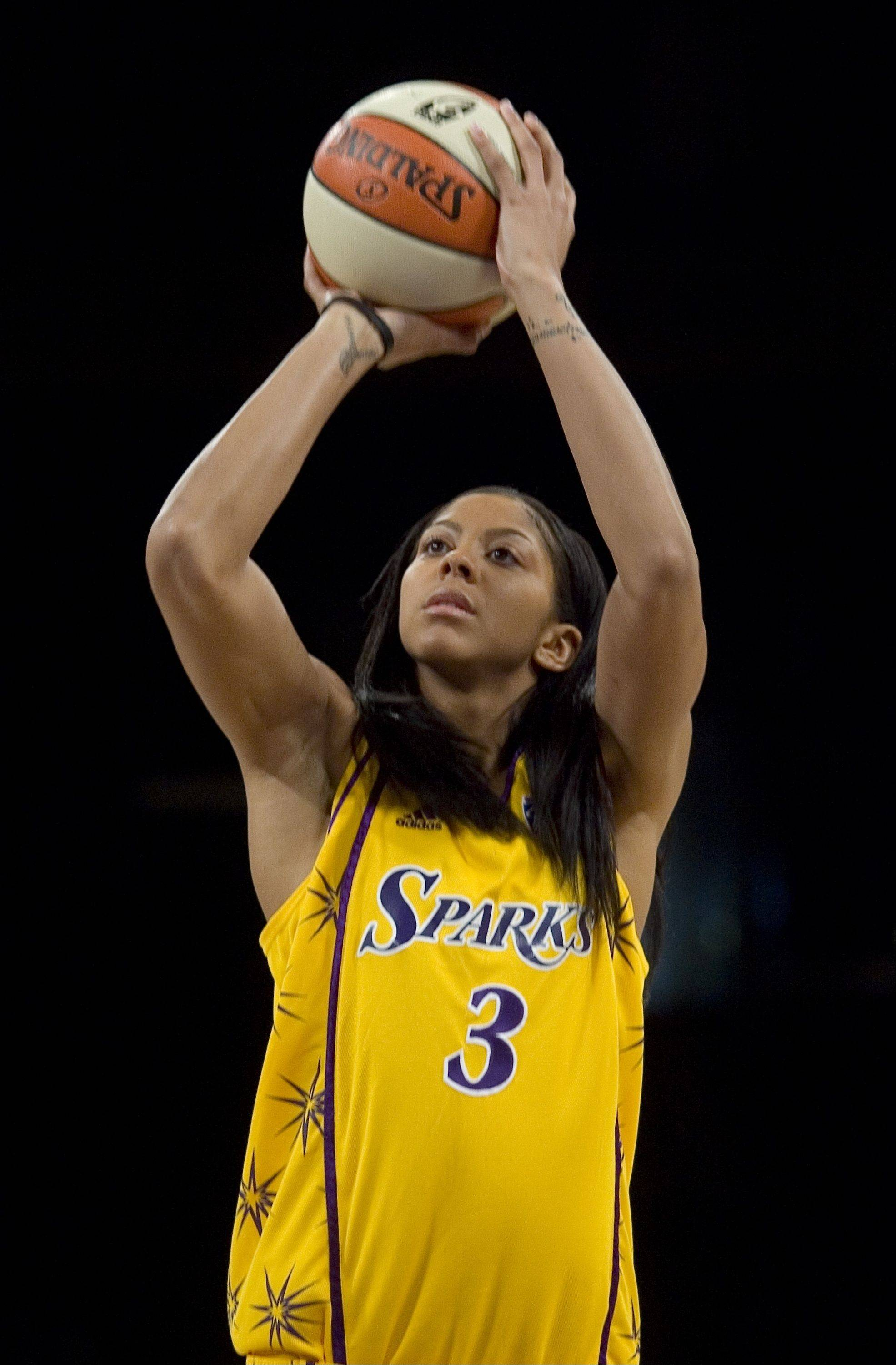 Naperville native Candace Parker, who plays for the WNBA's Los Angeles Sparks, was named Best WNBA player at Wednesday night's ESPY Awards in Los Angeles.