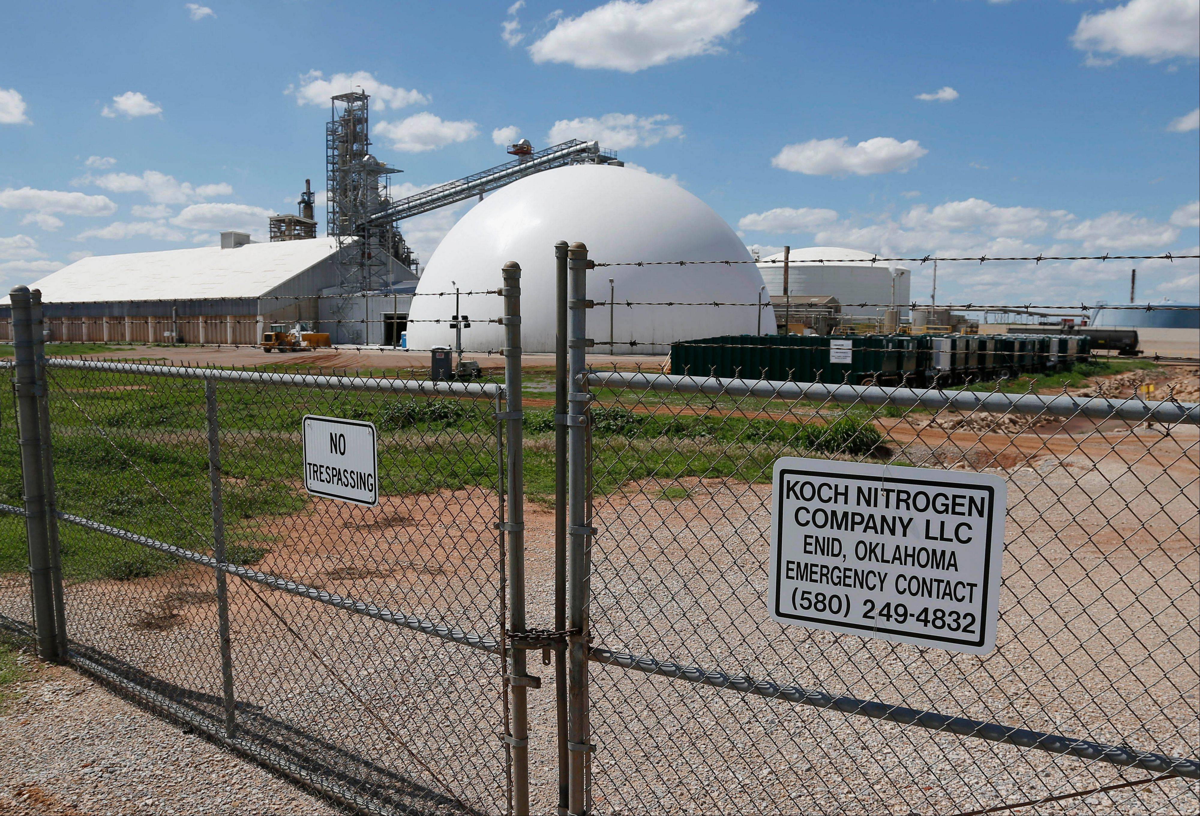 The Koch Nitrogen Company in Enid, Okla., plans to add a new fertilizer production plant at this facility, part of a wave of new fertilizer plant construction and expansion being proposed across the United States.