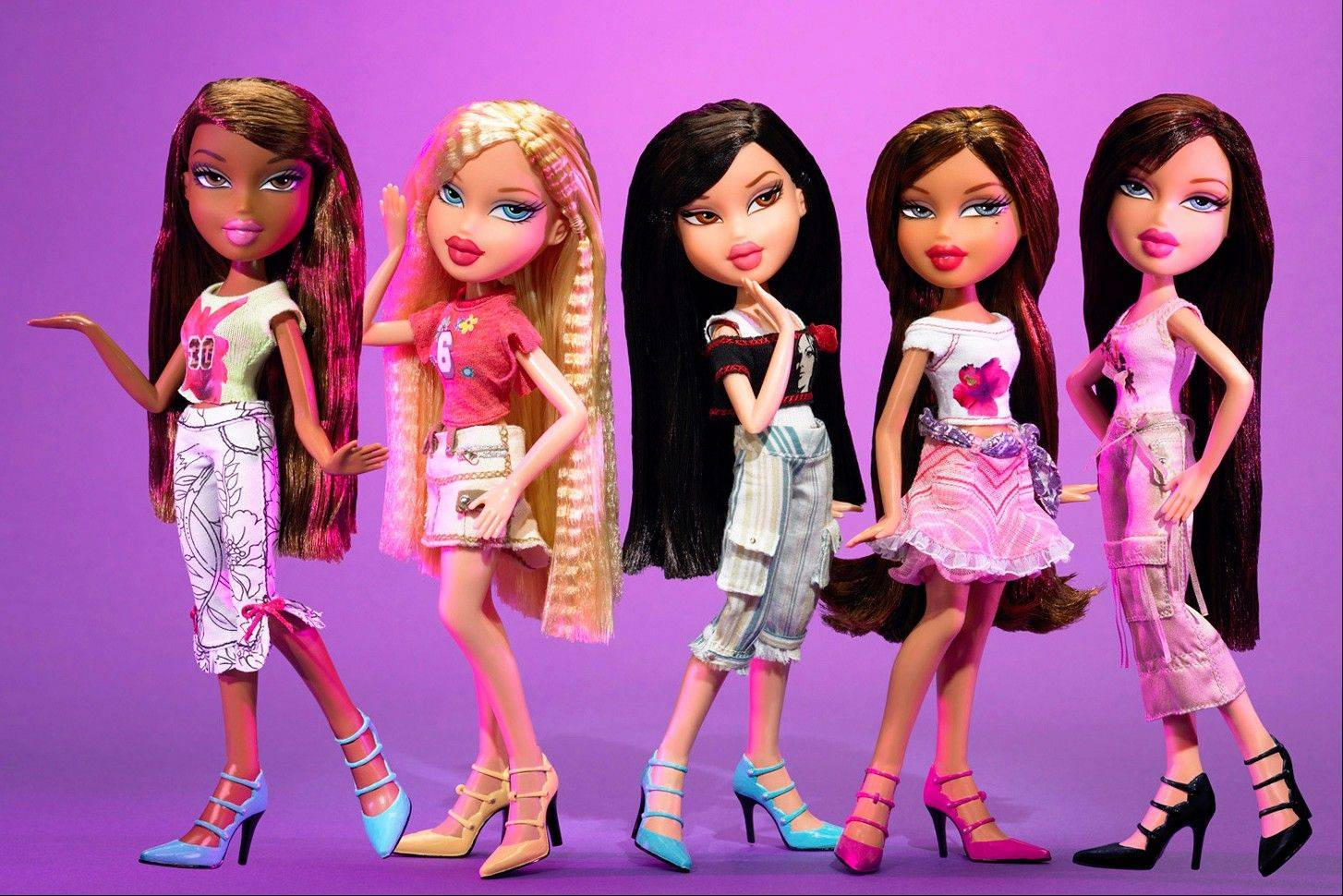 """Feelin' Pretty"" Bratz dolls are shown at the American International Toy Fair in New York."
