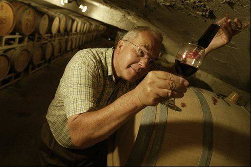 Carlos Creek winery owner Robert Johnson tests 2002 cabernet in Alexandria, Minn. Minnesota's wine industry is no longer a novelty for a state known for its frosty climate and presently boasts over 100 vineyards and 34 wineries.